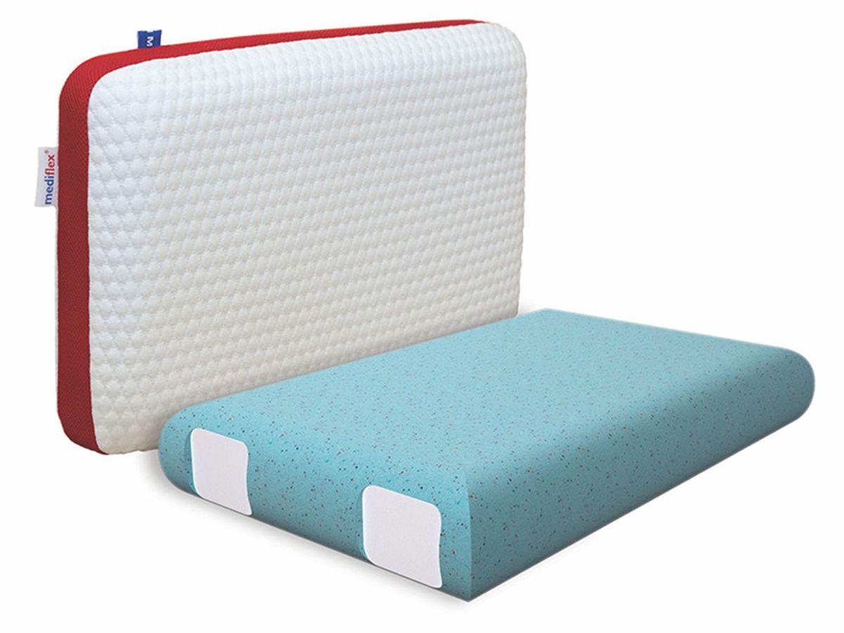 Подушка ортопедическая Mediflex Forte, размер SPO.FORT.SСон на неправильной подушке является причиной ухудшения качества сна. Подушки разработаны специалистами лаборатории сна совместно с академиком В.И. Дикулем, гарантируют поддержку шейных позвонков во время сна.