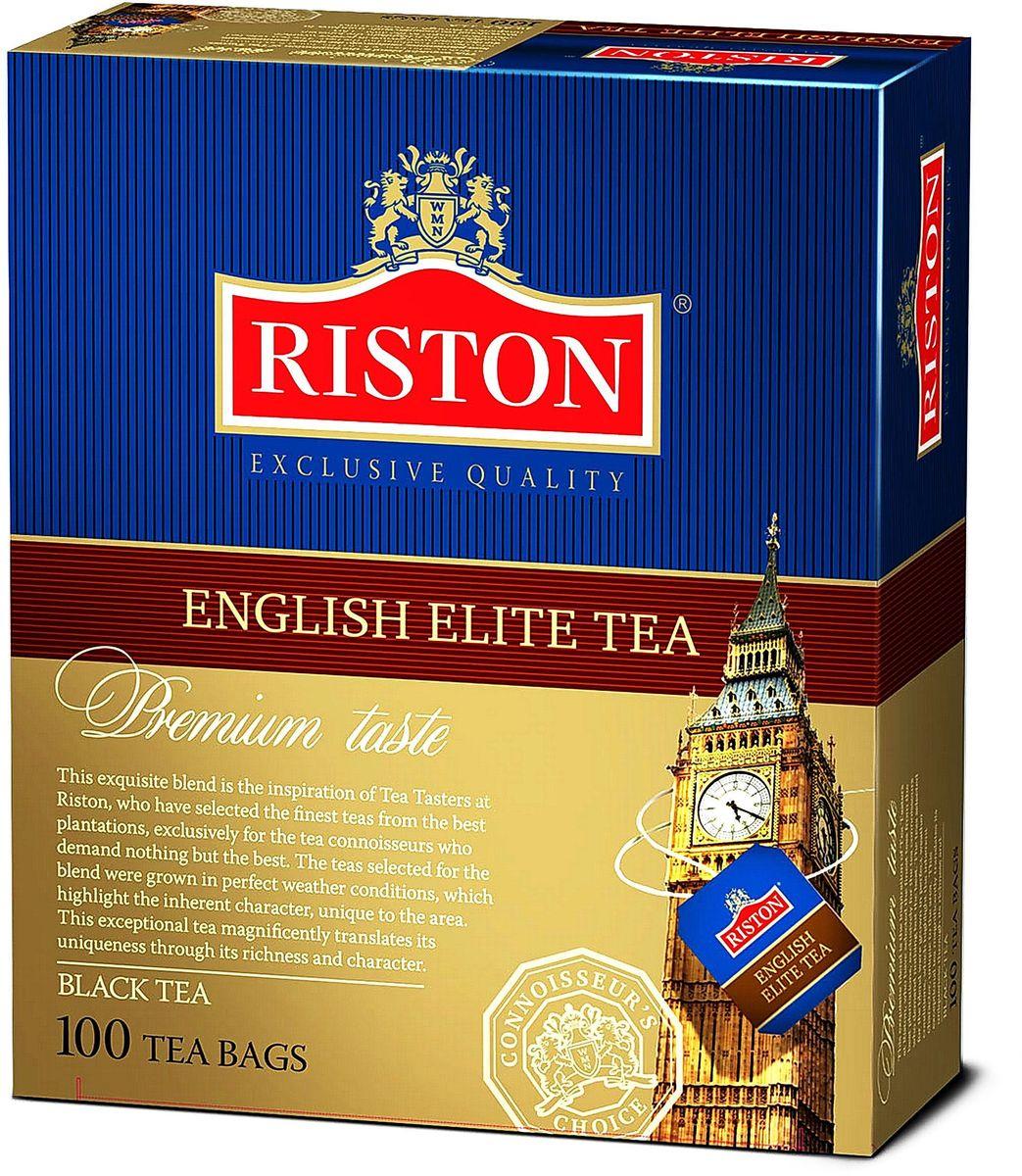 Riston Элитный Английский черный чай в пакетиках, 100 шт0120710Riston Элитный Английский - крепкий характер настоящего цейлонского чая с насыщенным ароматом и деликатной ноткой бергамота будет сопровождать вас в течение дня продолжительным мягким послевкусием.