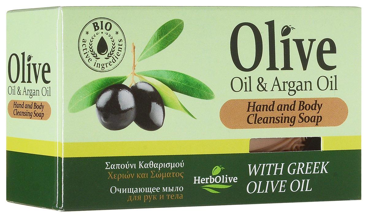 HerbOlive Оливковое мыло с маслом арганы 90 г5200310401756Природные антиоксиданты которые содержатся в оливковом мыле увлажняют и питают кожу. Натуральное оливковое мыло, производится без искусственных красителей и химических добавок, стимулируют новые клетки к регенерации и замедляет старение. В то же время смягчает кожу и облегчает многие заболевания, включая акне, экзему. Косметика произведена в Греции на основе органического сырья, НЕ СОДЕРЖИТ минеральные масла, вазелин, пропиленгликоль, парабены, генетически модифицированные продукты (ГМО)