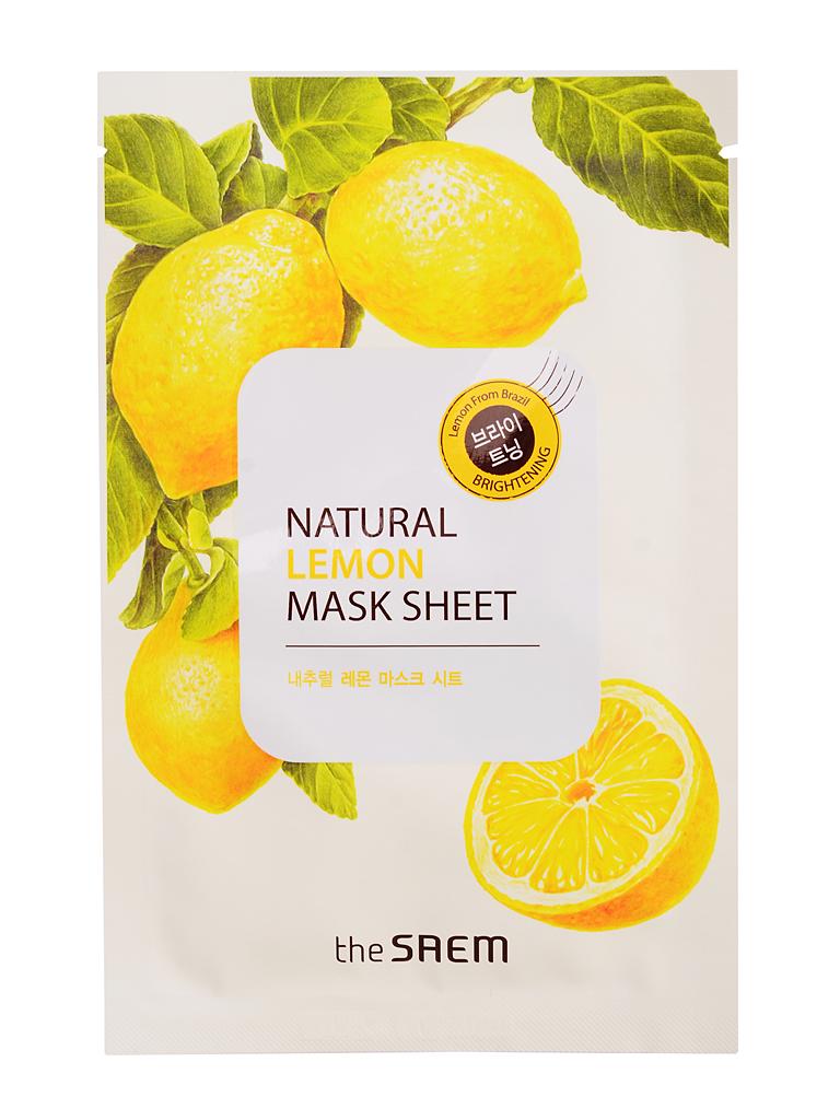 The Saem Маска тканевая с экстрактом лимона Natural Lemon Mask Sheet, 21 млСМ744Экстракт лимона, обогащенный комплексом минеральных элементов и витаминов, среди которых калий, витамины A, B, C, эфирное масло и фруктовые кислоты, способствует осветлению кожи и выравниванию общего тона, обесцвечивает пигментные пятна, тонизирует кожу и способствует исчезновению сосудистого рисунка. Маска хорошо сужает поры, благодаря ферментам, содержащимся в лимоне, кожа очищается, питается, матируется. Волшебная лимонная маска поможет дряблой и безжизненной коже стать более свежей и упругой. Гипоаллергенна. Объем: 21мл