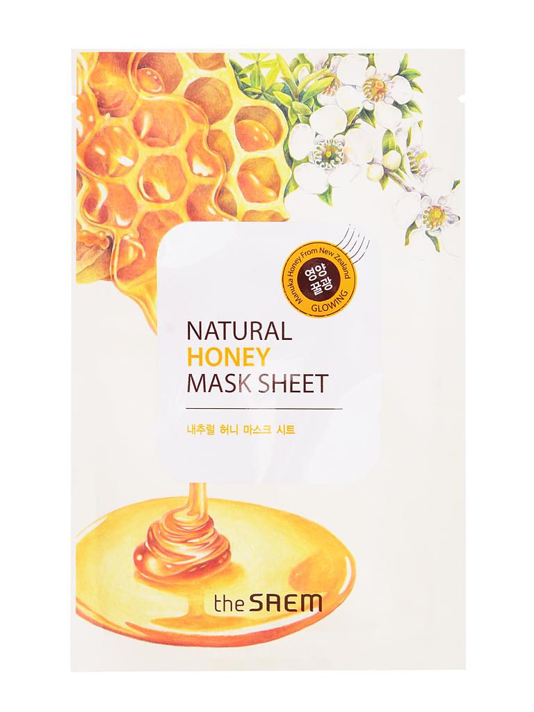 The Saem Маска тканевая с экстрактом меда Natural Honey Mask Sheet, 21 млСМ750Тканевая маска из серии Natural содержит экстракт меда (1000 мг), экстракт опунции и т.д. В состав меда входит 15–20% воды, до 70% сахаров, а также протеины, аминокислоты, витамины С, D, ферменты, органические кислоты, минеральные соли калия, кальция, натрия, магния, железа, меди, кобальта, фосфора, серы, кремния, антибактериальные вещества, пыльца, воск, пигменты. Хорошо увлажняет, смягчает и питает кожу, стимулирует водно-солевой и жировой обмен в эпидермальных клетках, оказывает регенерирующее и очищающее действие, облегчая удаление ороговевших клеток.