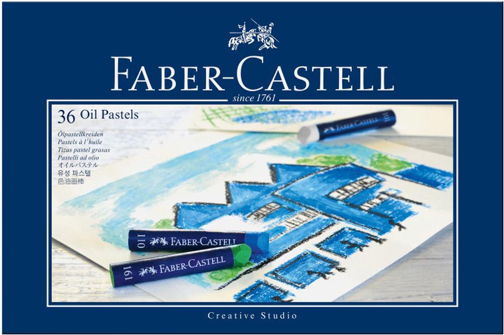 Faber-Castell Масляная пастель Studio Quality Oil Pastels 36 штGHT-12Набор Faber-Castell Studio Quality Oil Pastels содержит масляную пастель 36 цветов - от ярких активных тонов до приглушенных оттенков. Пастель выполнена в виде мелков круглой формы, каждый из которых обернут в бумажную гильзу. Мелки великолепного качества не крошатся при работе, обладают отличными кроющими свойствами, обеспечивают хорошее сцепление с поверхностью, яркость и долговечность изображения. Масляной пастелью Faber-Castell Studio Quality Oil Pastels можно рисовать в любой технике, сочетая ее с цветными карандашами и красками. При работе рекомендуется использовать шероховатые поверхности - специальную бумагу, картон, холст.