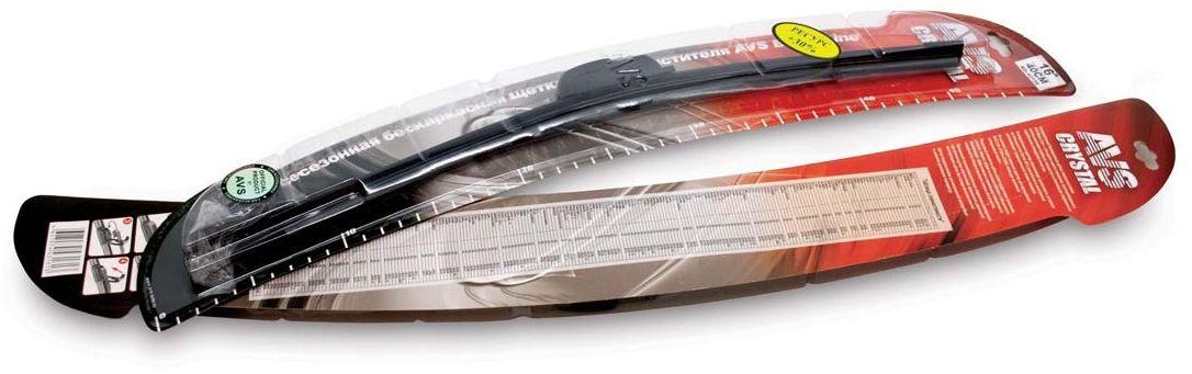 Щетка стеклоочистителя AVS, бескаркасная, длина 65 см, 1 шт43166Крепление: Крючок Доп.адаптер: Штырьковый замок Ассиметричный спойлер Графитовое напыление Бесшумная работа