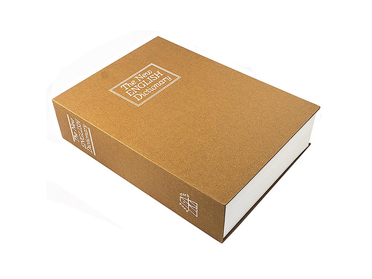 Книга-сейф Эврика Английский словарь, цвет: коричневый. 9753297532Этот сейф-шкатулка - точная имитация книги. Будучи поставленным на книжную полку, он ловко затеряется среди настоящей литературы, сохранив в тайне ваши секреты или сбережения. В оформлении применено тиснение серебристой фольгой. Внутри пластикового корпуса находится металлическое хранилище с надёжным замком, к которому прилагается комплект из двух ключей. Рекомендуем хранить запасной ключ отдельно, на случай утраты основного.