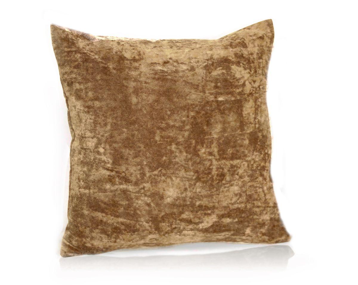 Подушка декоративная KauffOrt Бархат, цвет: светло-коричневый, 40 x 40 см96515412Декоративная подушка Бархат прекрасно дополнит интерьер спальни или гостиной. Бархатистый на ощупь чехол подушки выполнен из 49% вискозы, 42% хлопка и 9% полиэстера. Внутри находится мягкий наполнитель. Чехол легко снимается благодаря потайной молнии.