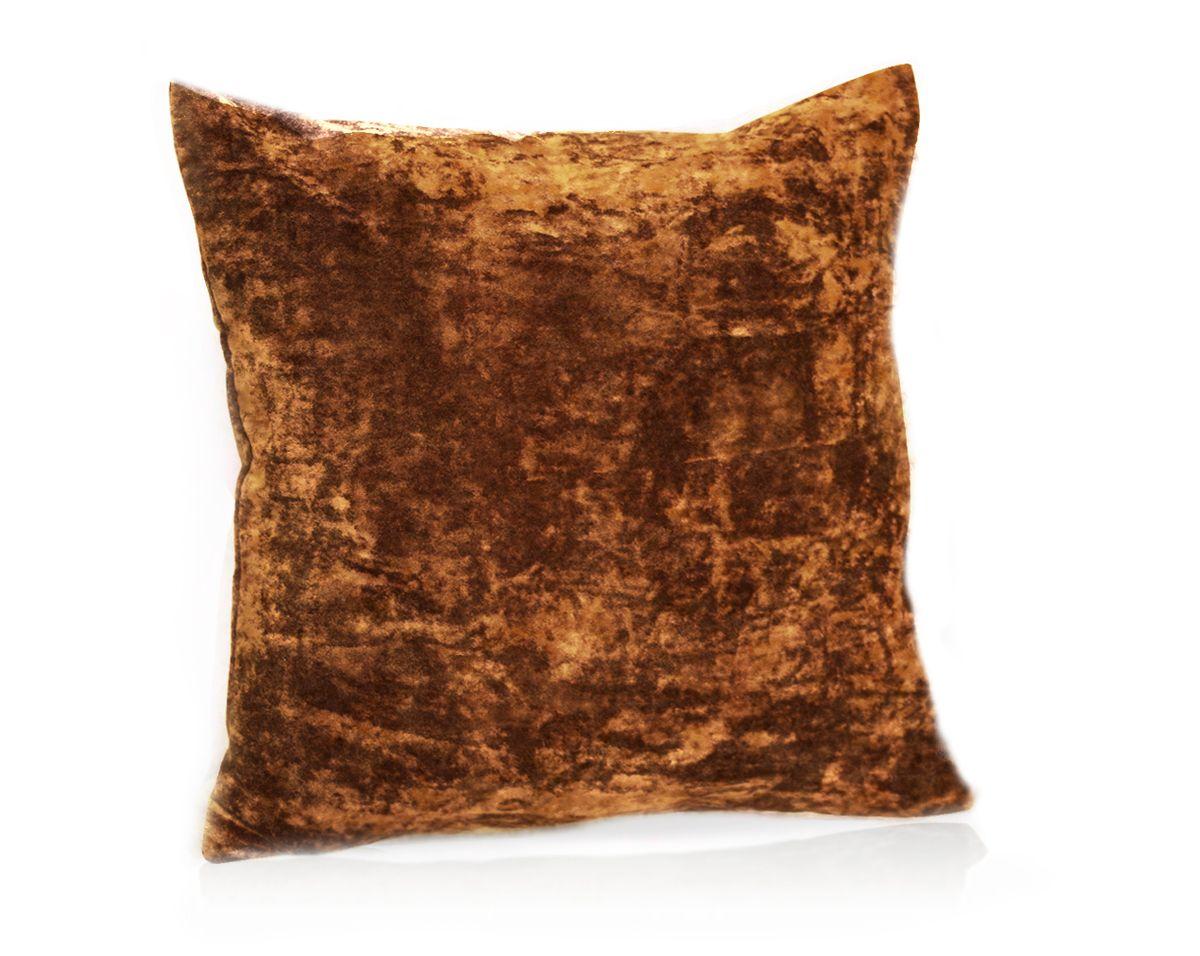 Подушка декоративная KauffOrt Бархат, цвет: терракотовый, 40 x 40 смS03301004Декоративная подушка Бархат прекрасно дополнит интерьер спальни или гостиной. Бархатистый на ощупь чехол подушки выполнен из 49% вискозы, 42% хлопка и 9% полиэстера. Внутри находится мягкий наполнитель. Чехол легко снимается благодаря потайной молнии.