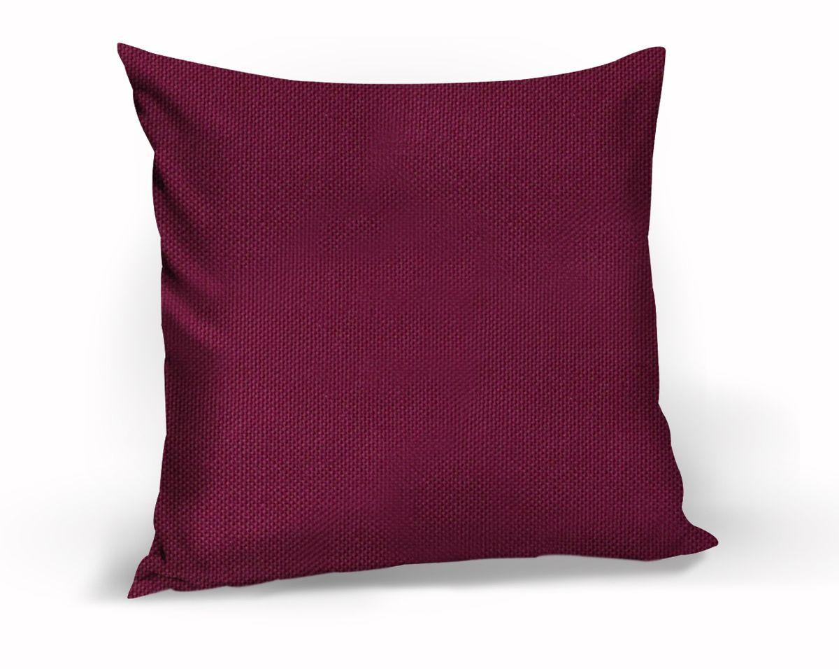 Подушка декоративная KauffOrt Комо, цвет: бордово-фиолетовый, 40 x 40 смS03301004Декоративная подушка Комо прекрасно дополнит интерьер спальни или гостиной. Чехол подушки выполнен из лонеты. Внутри находится мягкий наполнитель. Чехол легко снимается благодаря потайной молнии.