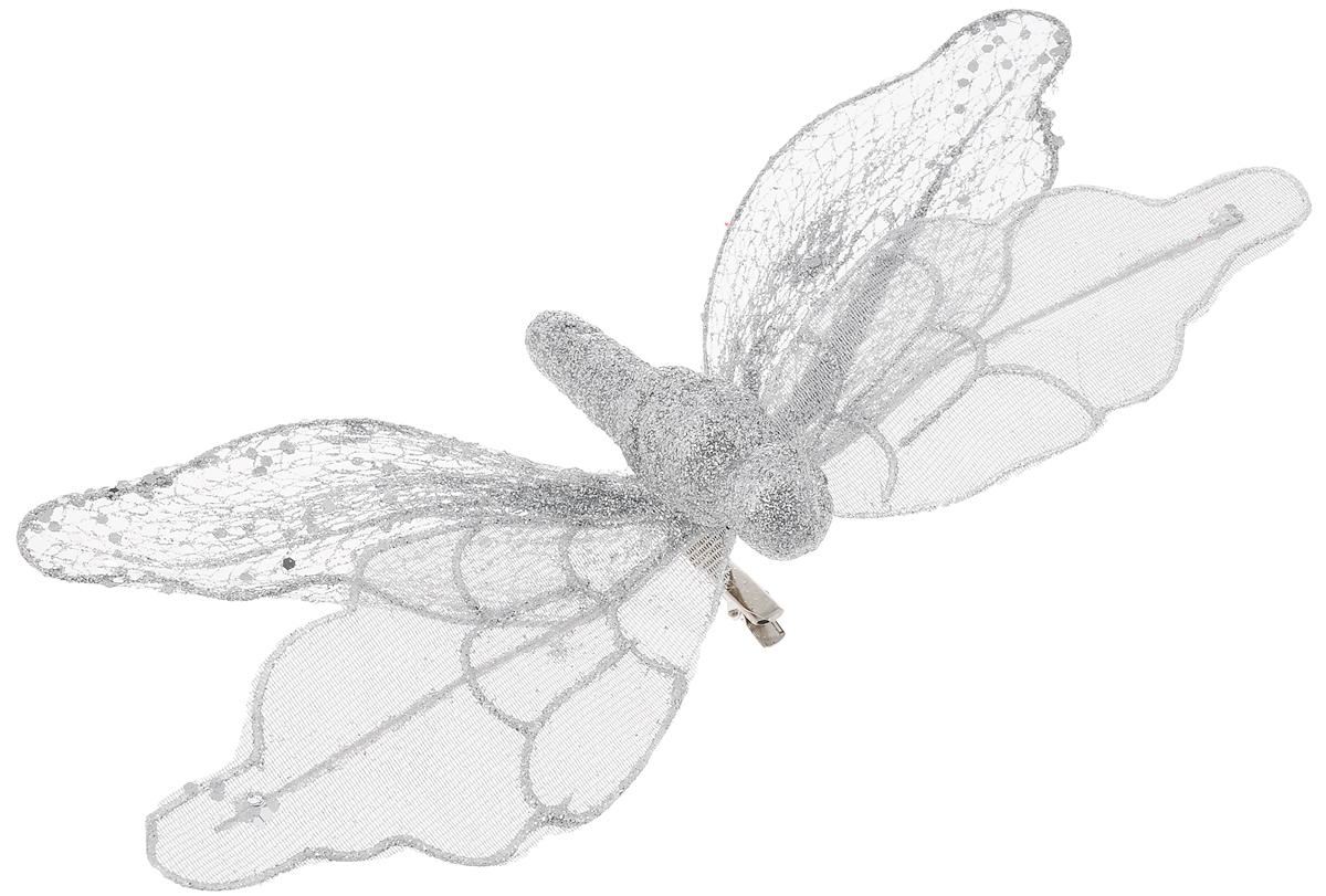 Украшение новогоднее Феникс-Презент Бабочка серебряная, на клипсе, 24 х 4 см42496Новогоднее украшение Феникс-Презент Бабочка серебряная выполнено из поливинилхлорида в форме бабочки на клипсе. Украшение можно прикрепить в любом понравившемся вам месте. Но, конечно, удачнее всего оно будет смотреться на праздничной елке. Елочная игрушка - символ Нового года. Она несет в себе волшебство и красоту праздника. Создайте в своем доме атмосферу веселья и радости, украшая новогоднюю елку нарядными игрушками, которые будут из года в год накапливать теплоту воспоминаний. Материал: поливинилхлорид. Размеры: 24 х 4 см.