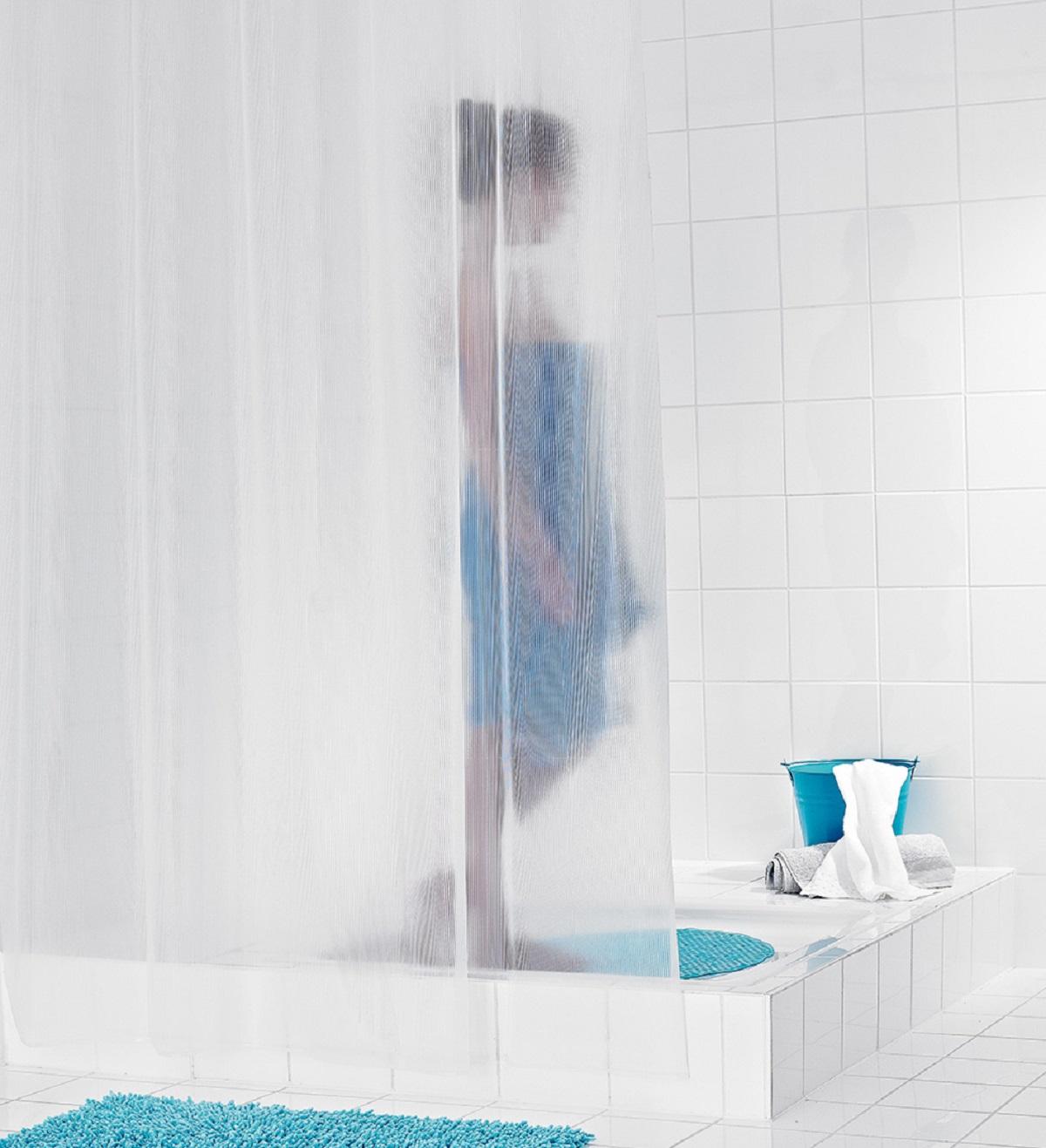 Штора для ванной комнаты Ridder Stripe, 180 х 200 см35880Высококачественная немецкая штора для душа создает прекрасное настроение. Продукты из эколена не имеют запаха и считаются экологически чистыми. Ручная стирка. Не гладить.