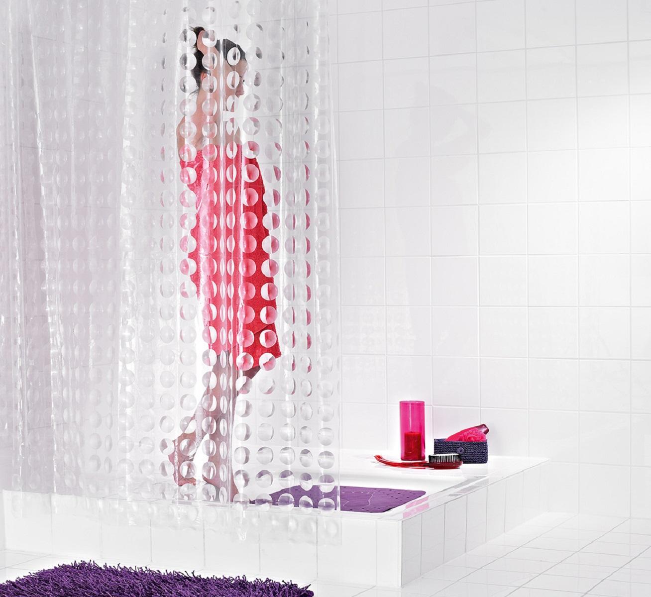 Штора для ванной комнаты Ridder Loupe, 180 х 200 см35897Оригинальная шторка Ridder Loupe создаст прекрасное настроение в ванной комнате. Она выполнена из высококачественного материала и не имеет запаха.