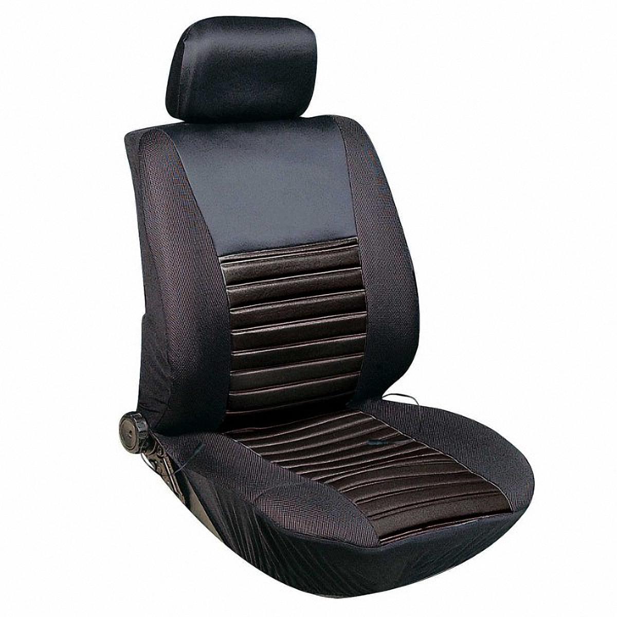 Чехлы для сиденья Skyway 12V, с подогревом, 2,5А-3А, цвет: черный, 116 х 56 смS02202007