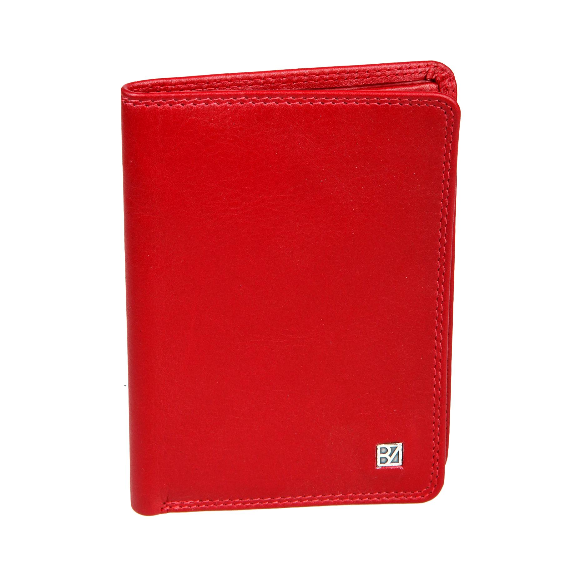 Портмоне женское Bodenschatz, цвет: красный. 8-840A16-11154_711Портмоне женское Bodenschatz выполнено из натуральной кожи. Модель раскладывается пополам, внутри один отдел для купюр, один потайной карман, три кармашка для пластиковых карт, два кармашка для документов, один из них в сеточку.