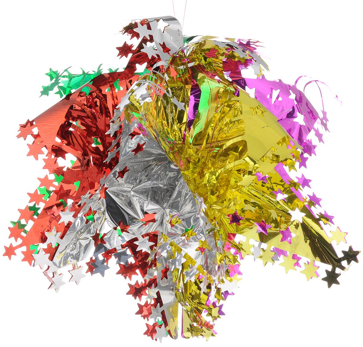 Украшение новогоднее подвесное Magic Time Маленькая цветная галактика, 50 x 25 см42125Новогоднее подвесное украшение Magic Time Маленькая цветная галактика выполнено из ПЭТ (полиэтилентерефталат) в виде снежинки. С помощью специальной петельки украшение можно повесить в любом понравившемся вам месте. Игрушка удачно будет смотреться под потолком. Новогоднее украшение Magic Time Маленькая цветная галактика несет в себе волшебство и красоту праздника. Создайте в своем доме атмосферу веселья и радости, с помощью игрушек, которые будут из года в год накапливать теплоту воспоминаний. Материал: полиэтилентерефталат. Размер: 50 x 25 см.