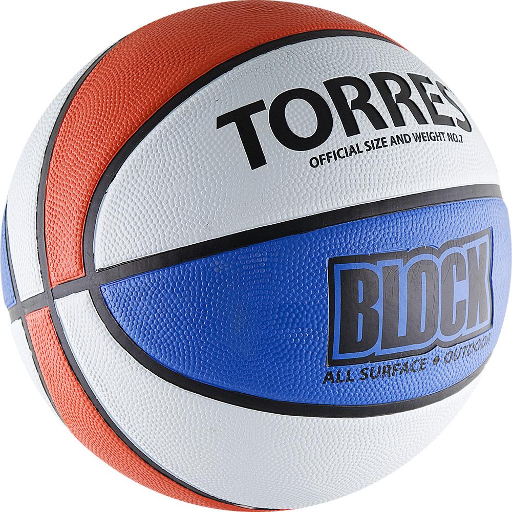 Мяч баскетбольный Torres Block, цвет: синий, белый, красный. Размер 728260476Основные характеристики Вид: баскетбольный Уровень игры: любительский Размер: 7 Количество панелей: 8 Тип соединения панелей: клееный Вес: 567-650гр Окружность: 74,9-78см Цвет основной: белый Цвет дополнительный: синий, красный, черный Материал камеры: бутиловая Материал обмотки камеры: нейлон Материал покрышки: резина Мяч подходит для игры на улице и в зале Страна-производитель: Китай Упаковка: пакет (поставляется в сдутом виде) Достаточно традиционный дизайн мяча с чередующимися цветными панелями не только делает его ярким, но и служит для отработки передач и трехочковых бросков. Поверхность из износостойкой резины с глубокими каналами позволяет эксплуатировать мяч для игры на любых типах поверхностей, в том числе и на жестких. Размер 7 для мужчин и для юниоров старше 15 лет.
