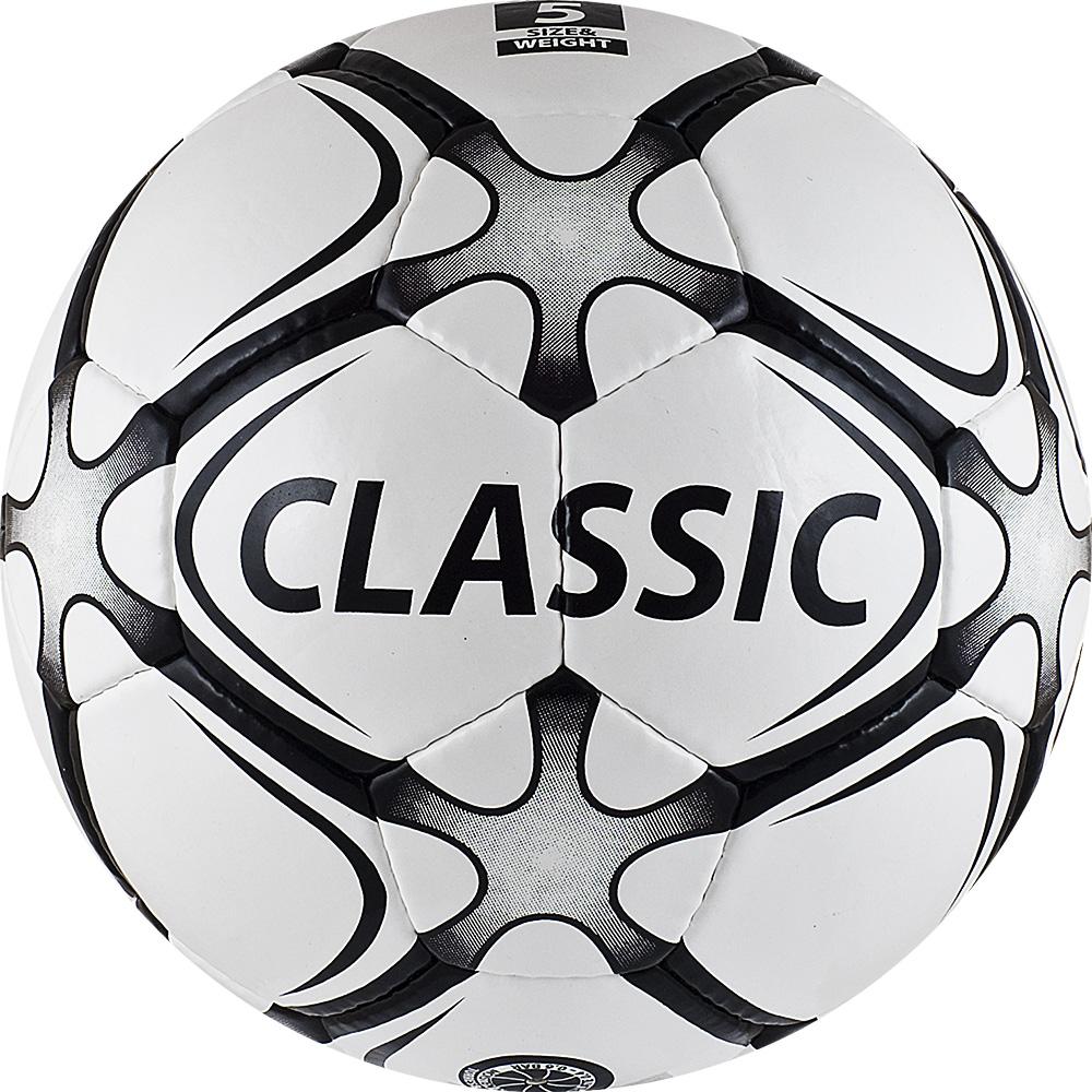 Мяч футбольный Torres Classic, цвет: белый, серый, черный. Размер 5200170Футбольный мяч Torres Classic отлично подходит для игр тренировочного уровня на любых поверхностях в любых погодных условиях (при соблюдении условий эксплуатации и ухода).Надежный, хорошо зарекомендовавший себя мяч. Он состоит из32 панелей и 4 подкладочных слоев.Камера выполнена из латекса, а покрышка из имитирующего натуральную кожу полиуретана с микрорельефной структурой.