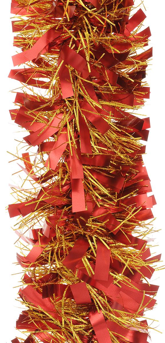 Мишура новогодняя Magic Time, цвет: красный, золотистый, диаметр 9 см, длина 200 см. 421242129Мишура новогодняя Magic Time, выполненная из ПЭТ (полиэтилентерефталата), поможет вам украсить свой дом к предстоящим праздникам. Мишура армирована, то есть имеет проволоку внутри и способна сохранять приданную ей форму. Новогодняя елка с таким украшением станет еще наряднее. Новогодней мишурой можно украсить все, что угодно - елку, квартиру, дачу, офис - как внутри, так и снаружи. Можно сложить новогодние поздравления, буквы и цифры, мишурой можно украсить и дополнить гирлянды, можно выделить дверные колонны, оплести дверные проемы.