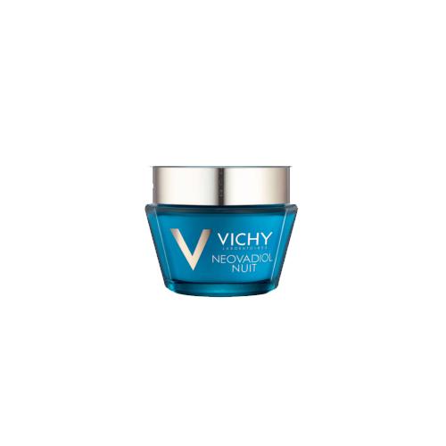 Vichy Neovadiol Компенсирующий комплекс ночной уход для кожи в период менопаузы, 50 млM9067100В результате 14 лет исследований был разработан инновационный уход, который помогает компенсировать замедление естественного механизма регенерации кожи вновь наполнить ее молодостью. Замедление процессов регенерации - это первопричина быстрых изменений кожи в период менопаузы: - Снижение плотности кожи; - Изменения овала лица; - Углубление морщин; - Снижение эластичности кожи; - Неровный микрорельеф; - Сухость, хрупкость кожи. Neovadiol компенсирующий комплекс объединяет 4 активных дерматологических ингредиента в рекордной концентрации: про-ксилан активирует выработку собственного коллагена кожи, восстанавливая слой за слоем и делая морщины менее заметными; Hepes и Hydrovance ускоряют процессы регенерации изнутри; гиалуроновая кислота интенсивно увлажняет кожу. Для чувствительной кожи, гипоаллергенно, на основе минерализующей термальной воды.