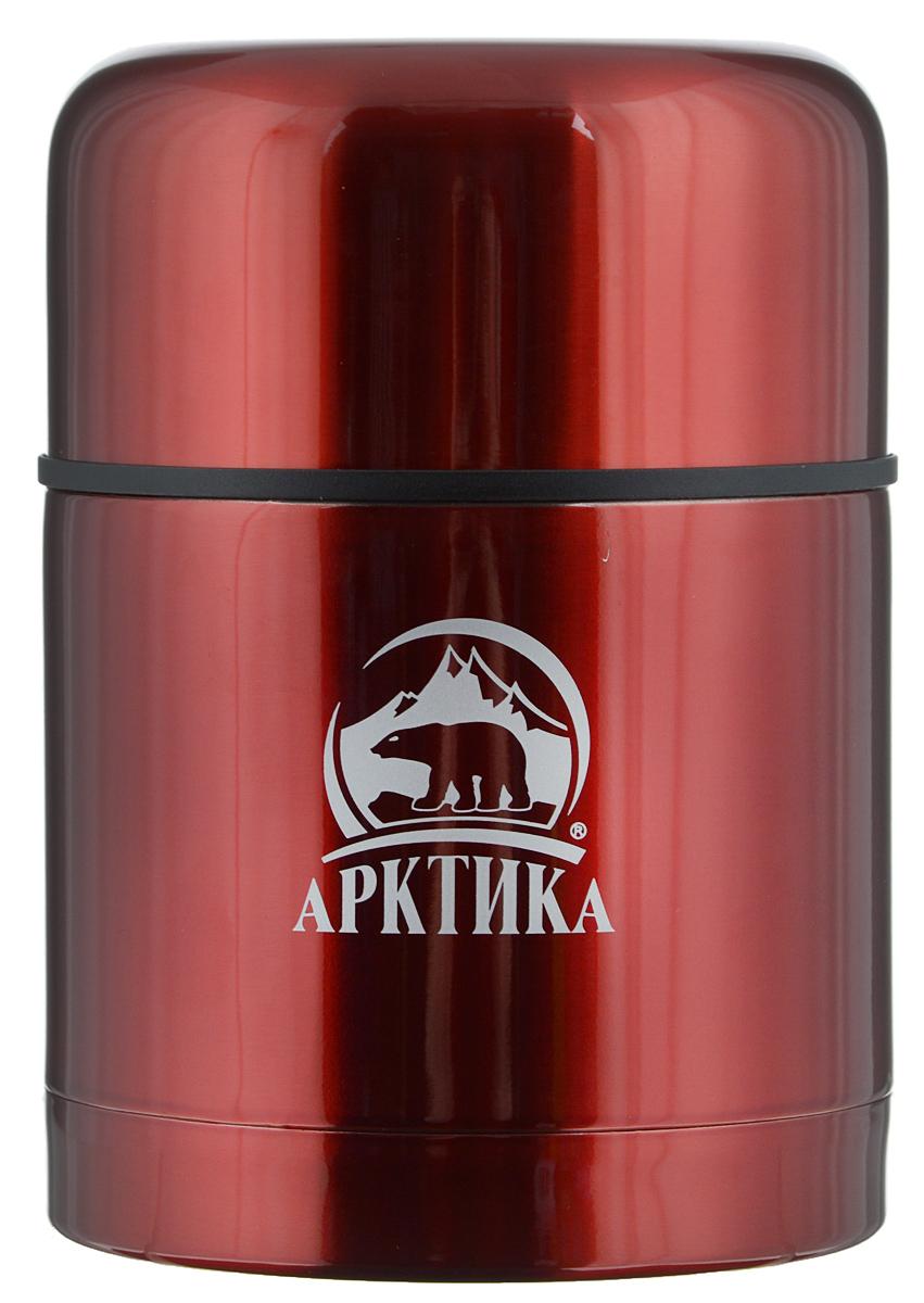 Термос Арктика, с широким горлом, цвет: красный, 0,5 л. 302-500302-500 красныйТермос Арктика с широким горлом сохранит вашу еду горячей и вкусной в течении долгого времени. Корпус выполнен из высококачественной нержавеющей стали. Термос оснащен глухой пробкой с кнопкой для спуска пара. Крышку можно использовать в качестве стакана. Он составит компанию за обеденным столом, улучшит настроение и поднимет аппетит, где бы этот стол не находился. Пусть даже в глухом отсыревшем лесу, где даже развести костер будет стоить немалого труда. Забудьте об этих неудобствах – вместительный и притом компактный термос Арктика с радостью послужит вам в качестве миниатюрной полевой кухни, поднимет настроение нарядным внешним видом и вкусной домашней едой. Диаметр горлышка: 8,5 см. Диаметр основания: 10,2 см. Высота (с учетом крышки): 14,5 см. Время сохранения температуры (холодной и горячей): 8 часов.
