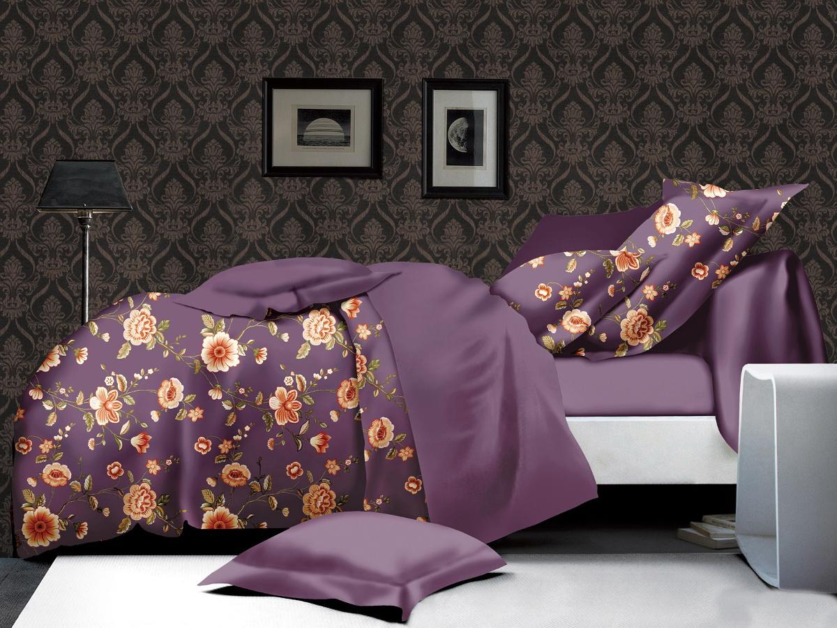 Комплект белья Cleo Цветочный комплимент, 1,5-спальный, наволочки 70х7010503Коллекция постельного белья из микросатина CLEO – совершенство экономии, но не на качестве! Благодаря новейшим технологиям микросатин – это прочность, легкость, простота в уходе, всегда яркие цвета после стирки. Микро-сатин набирает все большую популярность, благодаря своим уникальным характеристикам. Окраска материала - стойкая, цветовая палитра - яркая, насыщенная. Микро-сатин хорошо впитывает влагу, а после стирки быстро сохнет, становясь шелковистым на ощупь, мягким и воздушным. Комплект состоит из пододеяльника, двух наволочек и простыни.