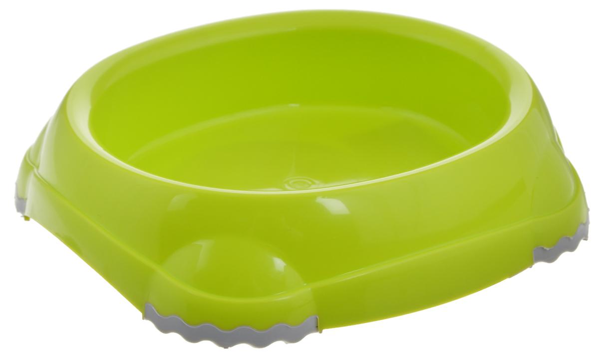 Миска для животных Moderna Smarty bowl, с антискольжением, цвет: салатовый, 12 х 10 х 3 см14H100173Удобная и оригинальная миска для кошек Moderna Smarty bowl выполнена из пищевого пластика с нескользящими вставками. Можно использовать для воды и корма. Миска устойчива и не переворачивается. Высококачественная полировка, устойчива к деформации. Можно мыть в посудомоечной машине. Размер миски: 12 х 10 х 3 см .