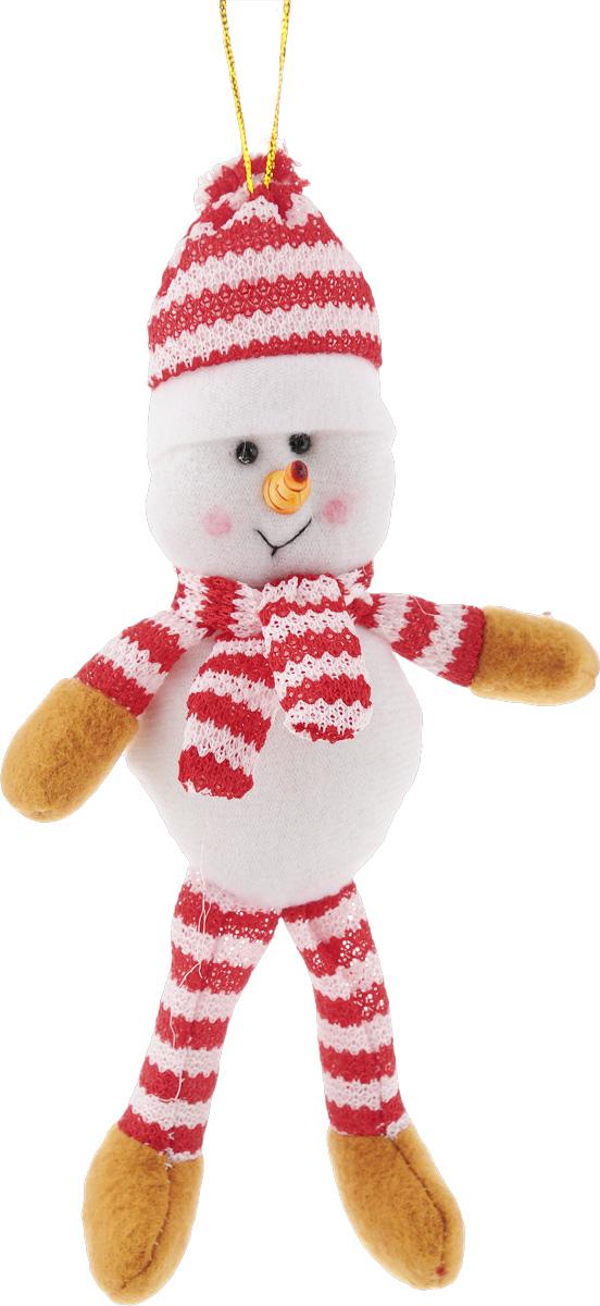 Украшение новогоднее подвесное Феникс-Презент Снеговик, высота 19 см42522Новогоднее украшение Феникс-Презент Снеговик отлично подойдет для декорации вашего дома и новогодней ели. Игрушка выполнена из полиэстера в виде забавного снеговика. Украшение оснащено специальной текстильной петелькой для подвешивания. Елочная игрушка - символ Нового года. Она несет в себе волшебство и красоту праздника. Создайте в своем доме атмосферу веселья и радости, украшая всей семьей новогоднюю елку нарядными игрушками, которые будут из года в год накапливать теплоту воспоминаний.