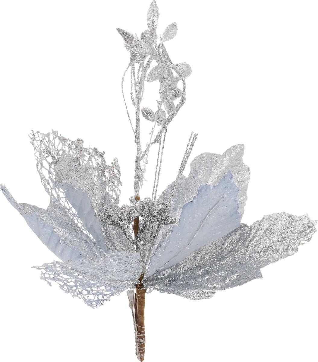 Украшение новогоднее Феникс-Презент Цветок, на клипсе, цвет: серебристый, длина 22 см42492Новогоднее украшение Феникс-Презент Цветок выполнено из поливинилхлорида в форме цветка на клипсе. Украшение можно прикрепить в любом понравившемся вам месте. Но, конечно, удачнее всего оно будет смотреться на праздничной елке. Елочная игрушка - символ Нового года. Она несет в себе волшебство и красоту праздника. Создайте в своем доме атмосферу веселья и радости, украшая новогоднюю елку нарядными игрушками, которые будут из года в год накапливать теплоту воспоминаний.