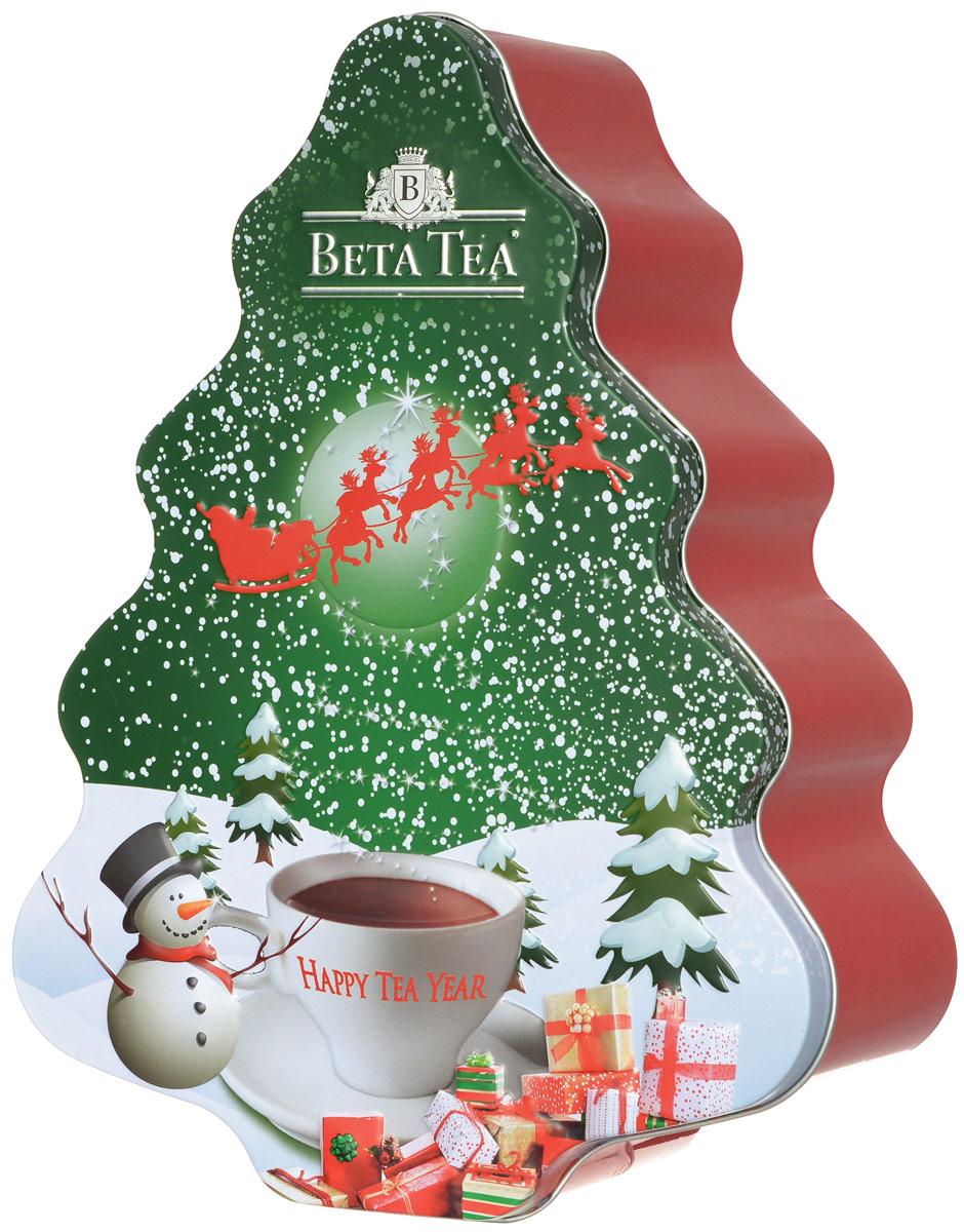 Beta Tea Елка черный листовой чай, 200 г8690717849829Превосходный черный цейлонский крупнолистовой чай Beta Tea в новогодней подарочной упаковке в форме елки красно-зеленого цвета. Отлично подойдет в качестве подарка на новогодние праздники.