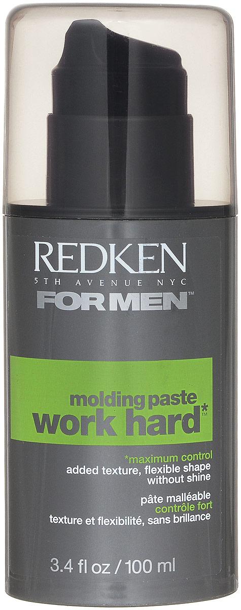 Redken For Men Work Hard Паста для сильной фиксации волос, 100 млFS-00897Пластичная текстура позволяет вам создавать, конструировать и менять прическу. Этой гибкой пастой легко пользоваться и создавать любые формы, фиксируя их надолго.
