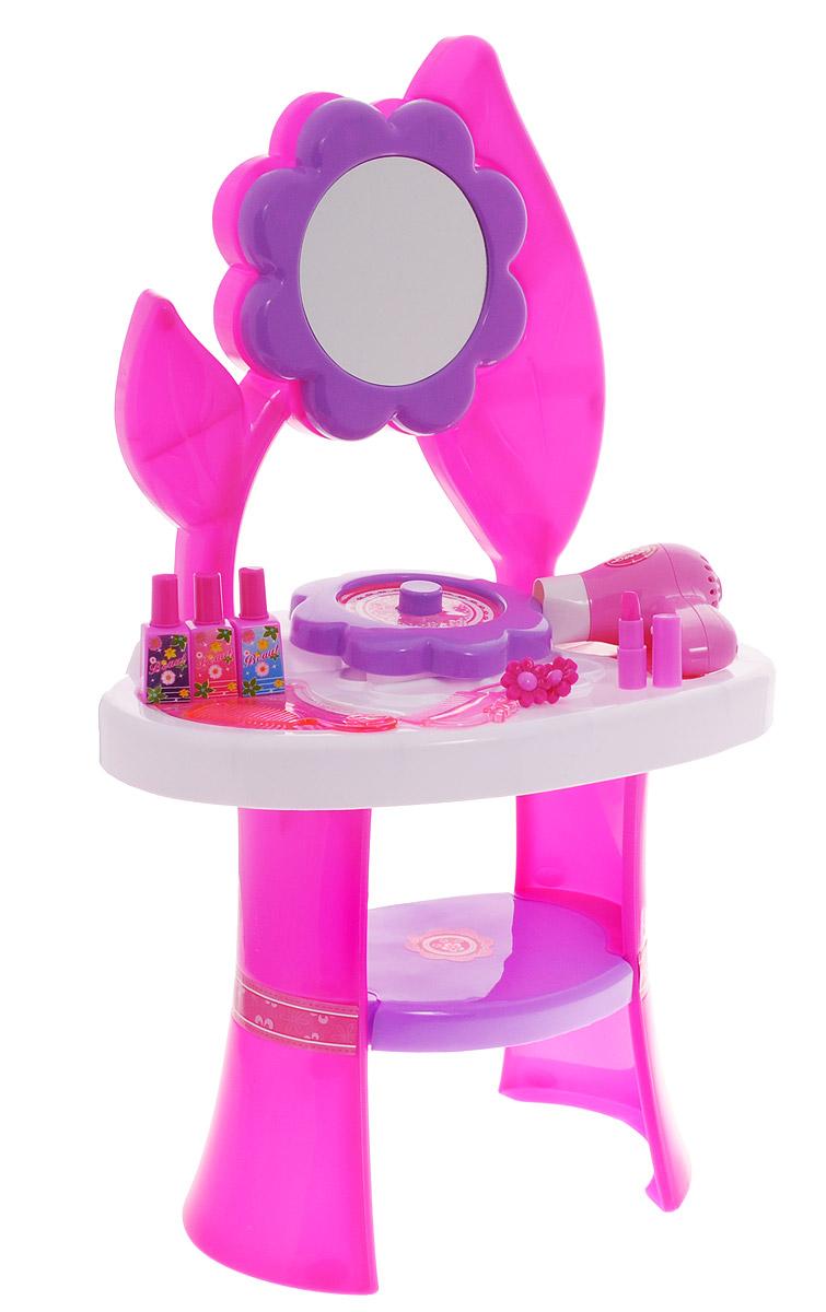 1TOY Туалетный столик Стилист Цветок большой 10 предметов Т59208