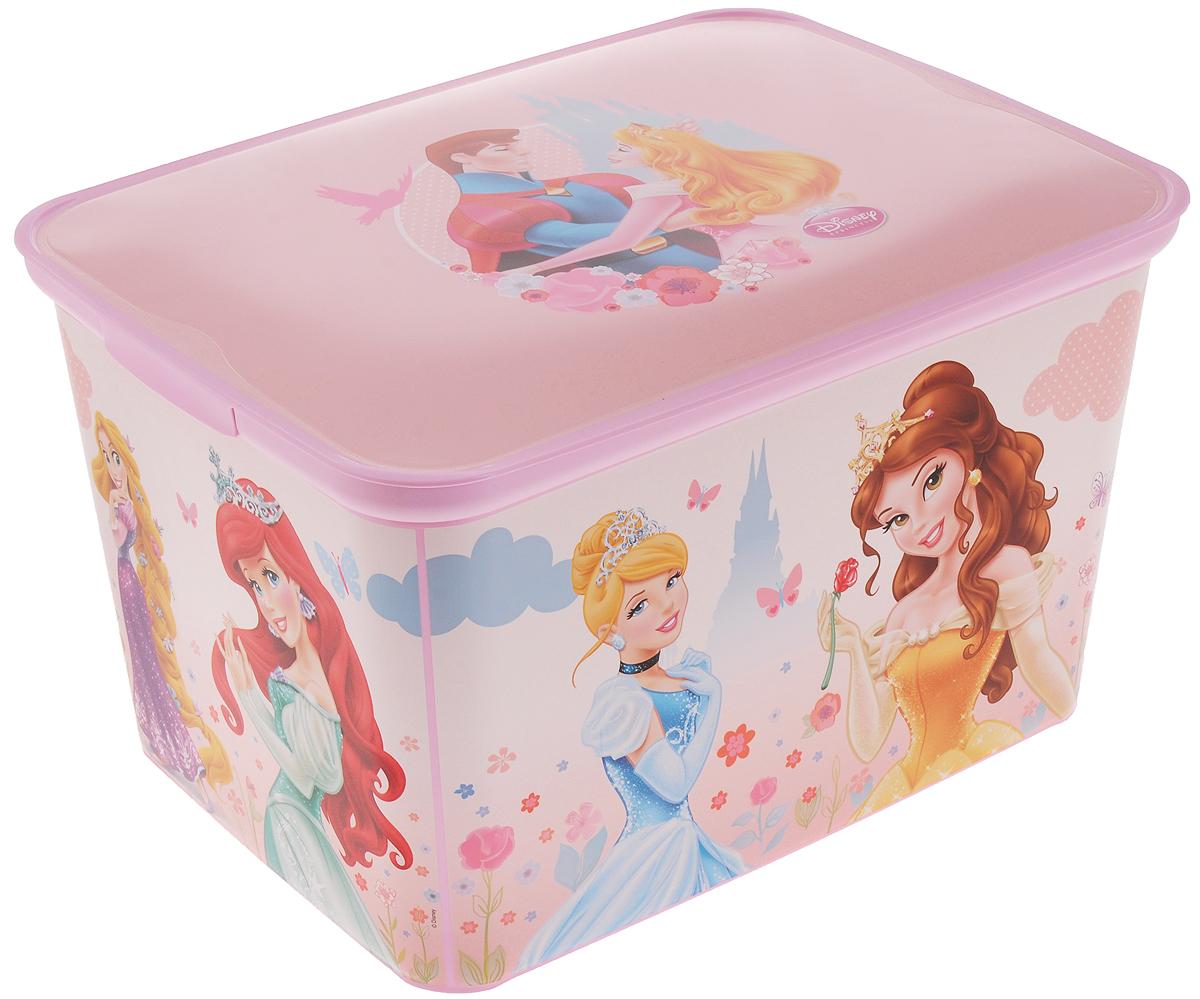 Коробка для хранения Curver Princess New, 39 х 30 х 23 см10503Коробка Curver Princess New, выполненная из высококачественного пластика, предназначена для хранения различных вещей. Изделие украшено изображениями принцесс из мультфильмов компании Disney. Коробка оснащена крышкой. В ней можно хранить канцелярские принадлежности, медикаменты и другие мелкие предметы. Декоративная коробка поможет хранить все в одном месте, а также защитить вещи от пыли, грязи и влаги.Размер изделия: 39 х 30 х 23 см.
