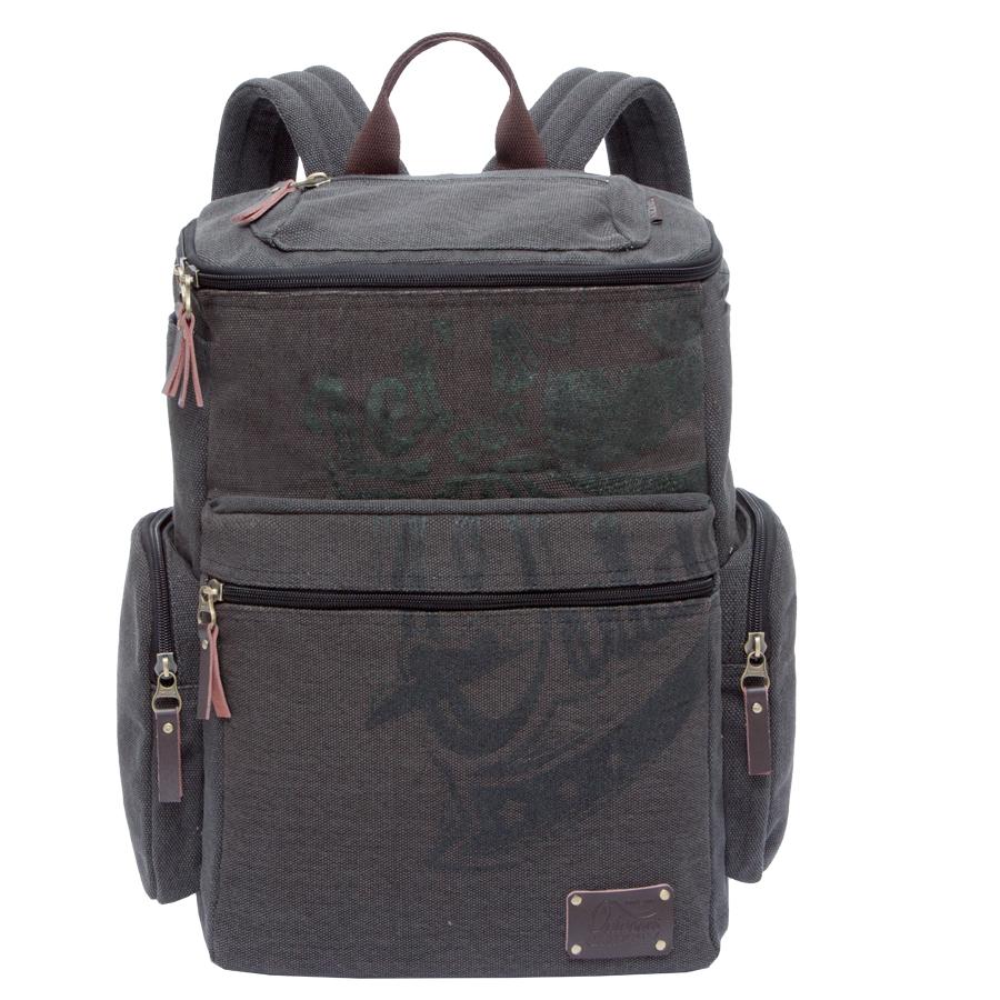 Рюкзак городской Grizzly, цвет: серо-коричневый. 30 л. RU-702-1/3RU-417-1 Рюкзак /4 черный - желтыйРюкзак городской Grizzl выполнен из качественного брезента и оформлен стильным принтом. Рюкзак имеет петлю для подвешивания и две удобные лямки, длина которых регулируется с помощью пряжек. Изделие имеет одно основное отделение, которое дополнено внутренним составным пеналом-органайзером и укрепленным карманом для ноутбука.На передней стенке расположен клапан на молнии с карманом, также объемный карман на передней стенке. Боковые стенки дополнены двумя открытыми карманами и двумя объемными боковыми карманами на молнии. Спинка дополнена карманом быстрого доступа на застежке-молнии и укрепленной вставкой.