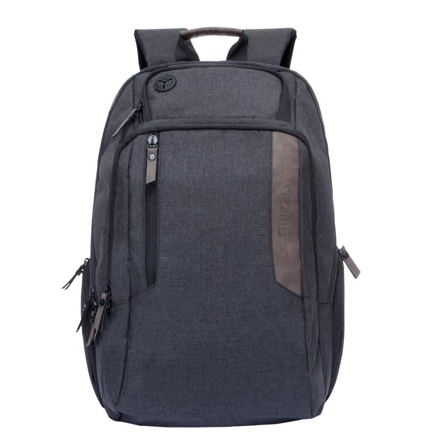 Рюкзак городской мужской Grizzly, цвет: черный-коричневый. 32 л. RU-700-6/2BP-001 BKРюкзак городской Grizzl выполнен из высококачественного полиэстера. Рюкзак имеет ручку-петлю для подвешивания и две укрепленные лямки, длина которых регулируется с помощью пряжек. Модель имеет два основных отделения, которые дополнены стандартным карманом на молнии, пеналом-органайзером, укрепленным карманом для ноутбука и карман для аудиоплеера. Передняя сторона оснащена втачным карманом на молнии. Боковые стенки дополнены объемными карманами на молнии. Тыльная сторона рюкзака имеет укрепленную спинку и нагрудную стяжку-фиксатор.