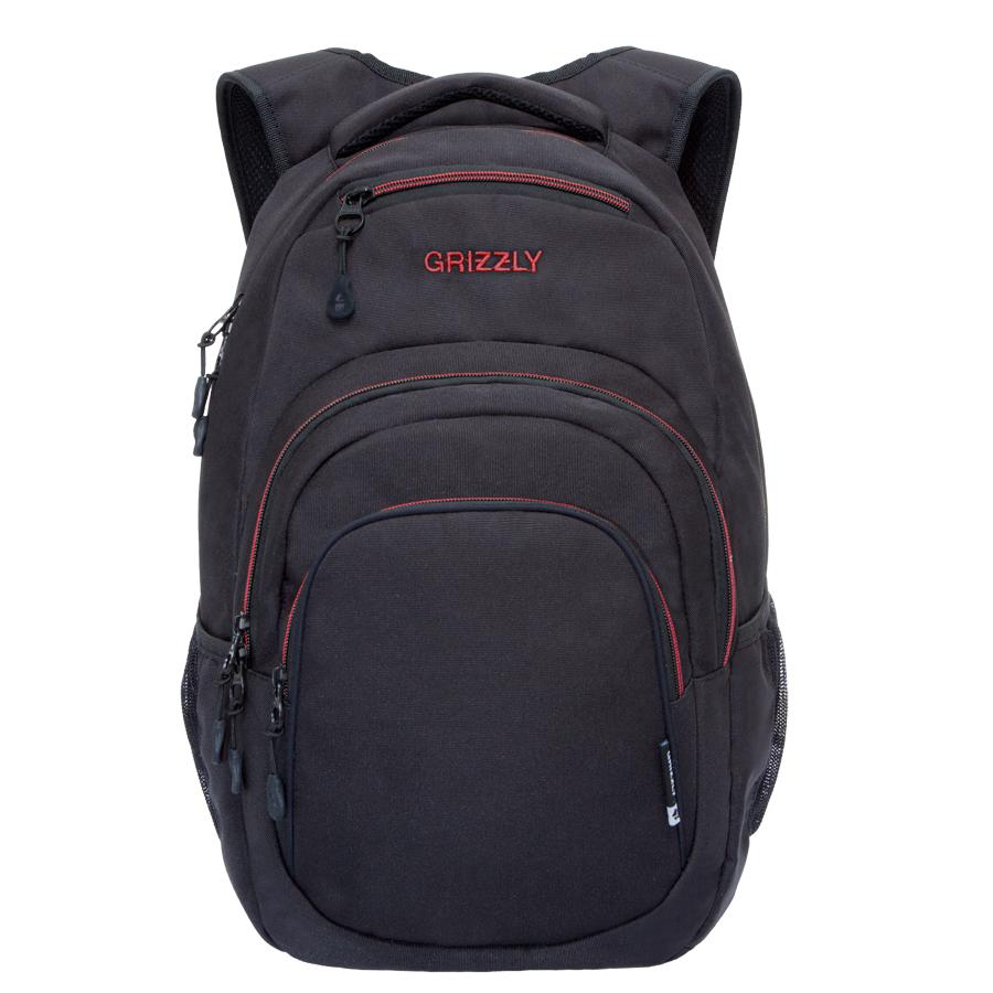 Рюкзак молодежный Grizzly, цвет: черный-красный. 32 л. RU-700-1/1RU-700-1/1Рюкзак молодежный, одно отделение, карман на молнии на передней стенке, объемный карман на молнии на передней стенке, боковые карманы из сетки, внутренний составной пенал-органайзер, внутренний укрепленный карман для ноутбука, укрепленная спинка, карман быстрого доступа в верхней части рюкзака, мягкая укрепленная ручка, нагрудная стяжка-фиксатор, укрепленные лямки.
