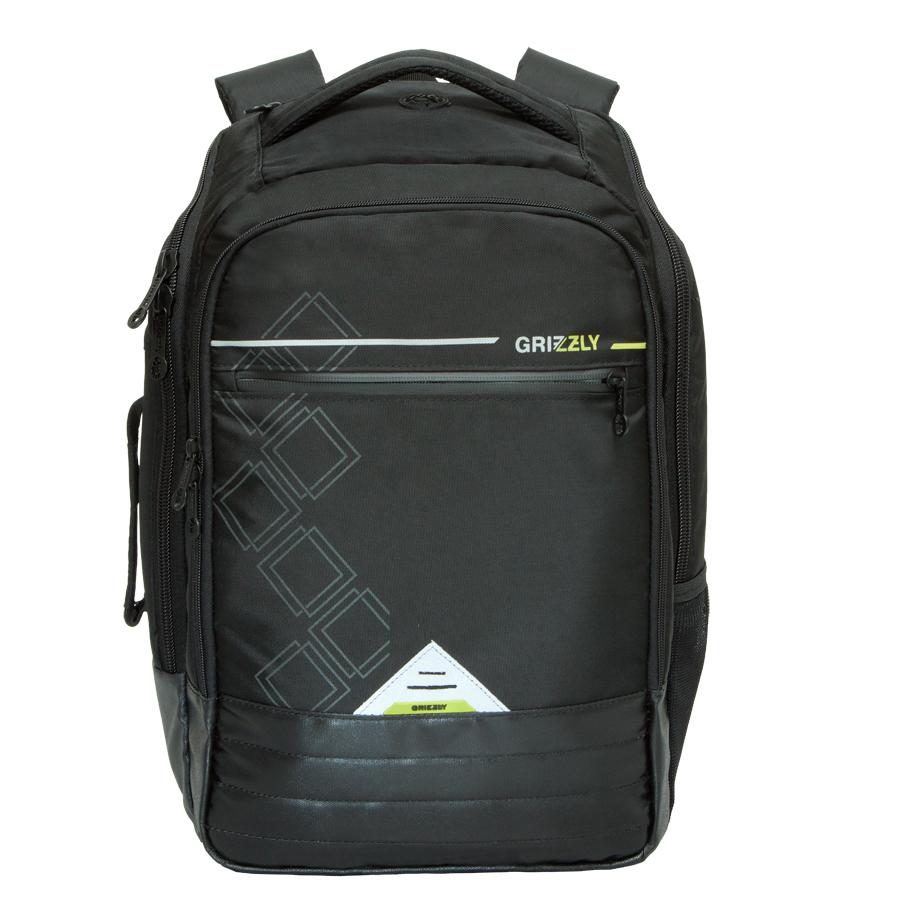 Рюкзак молодежный Grizzly, цвет: черный. 26л. RU-616-1/2RU-616-1/2Рюкзак молодежный, два отделения, карман на молнии на передней стенке, боковой карман , внутренний карман, внутренний карман на молнии, внутренний составной пенал-органайзер, внутренний укрепленный карман для ноутбука, укрепленная спинка, карман для аудиоплеера, мягкая укрепленная ручка, дополнительная ручка-петля, дополнительная укрепленная ручка, нагрудная стяжка-фиксатор, укрепленные лямки, брелок для ключей