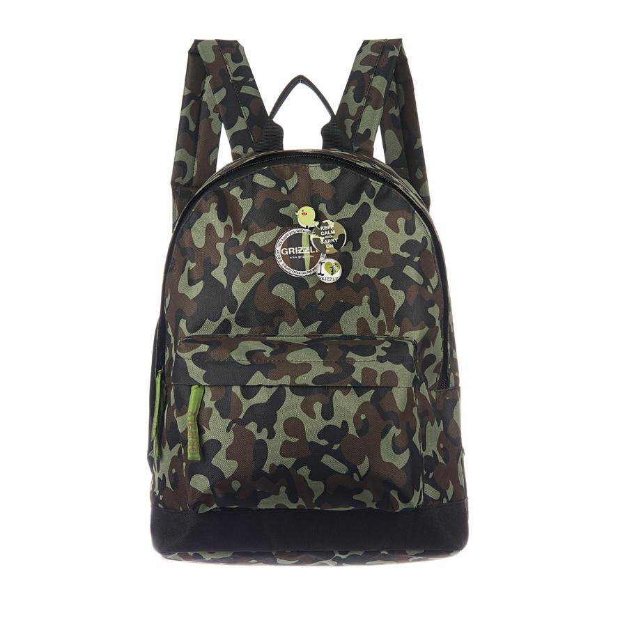 Рюкзак молодежный Grizzly, цвет: темно-зеленый. 18 л. RD-646-3/5RD-646-3/5Рюкзак молодежный, одно отделение, объемный карман на молнии на передней стенке, внутренний подвесной карман на молнии, укрепленная спинка, дополнительная ручка-петля, укрепленные лямки, декоративные съемные значки