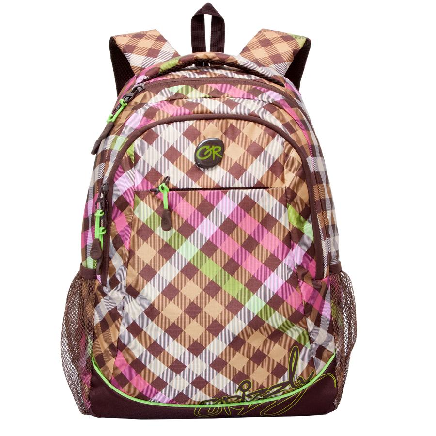 Рюкзак молодежный Grizzly, цвет: коричневый-салатовый. 22 л. RD-635-2/2RD-635-2/2Рюкзак молодежный, два отделения, карман на молнии на передней стенке, боковые карманы из сетки, внутренний подвесной карман на молнии, внутренний составной пенал-органайзер, анатомическая спинка, дополнительная ручка-петля, мягкая укрепленная ручка, укрепленные лямки