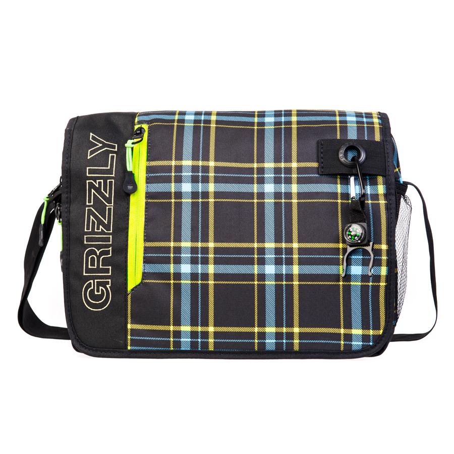 Сумка молодежная Grizzly, цвет: салатово-голубой. 14 л. MM-610-3/2MM-610-3/2Молодежная сумка, одно отделение, клапан на липучках с карманом на молнии, объемный передний карман на молнии, внутренний карман для ноутбука/планшета, внутренний карман на молнии, регулируемый плечевой ремень, брелок-игрушка