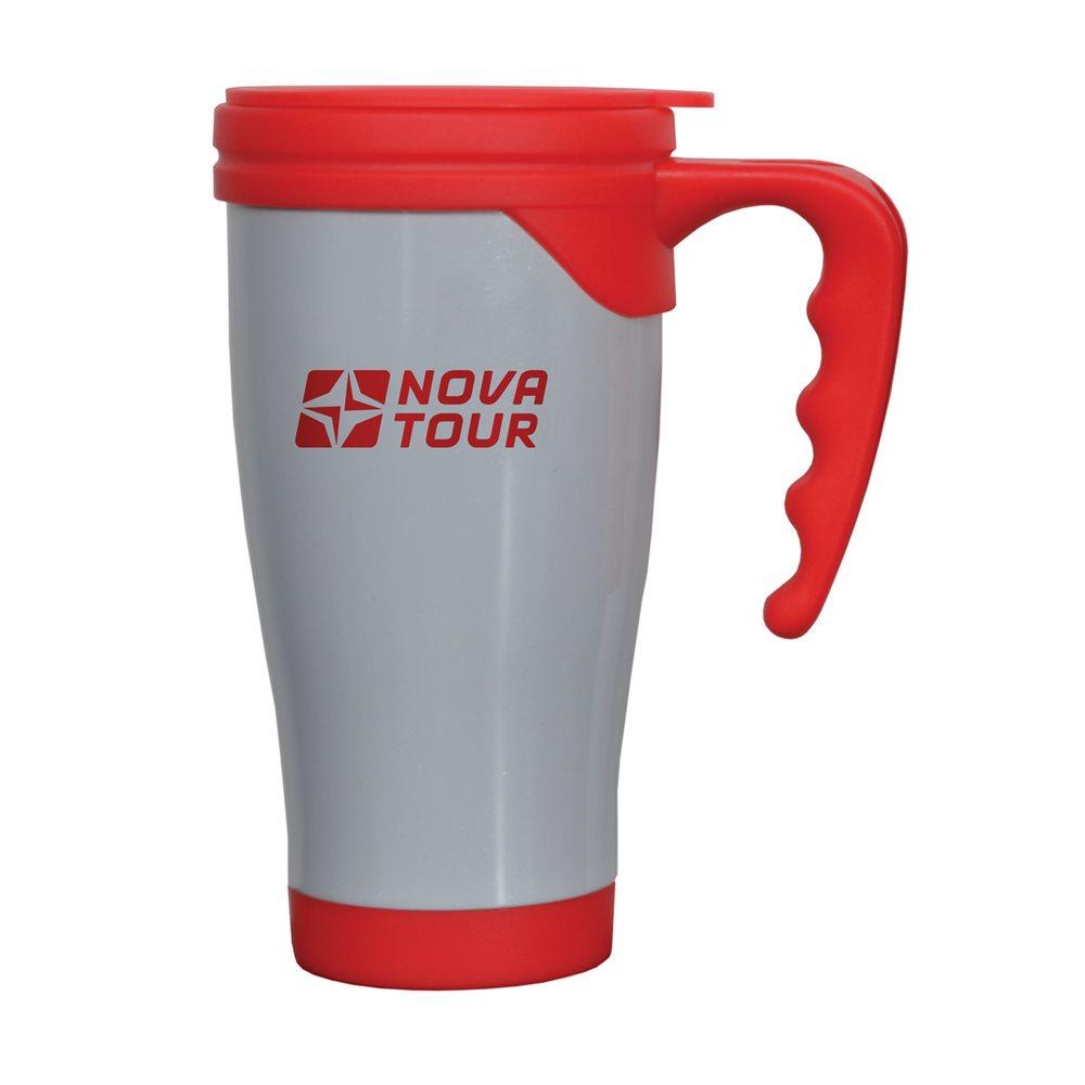 Термокружка Nova Tour Сильвер, цвет: серый, красный, 0,4 л95920-055-00Термокружка Nova Tour Сильвер, емкостью 0,4 л, выполненная из пищевой нержавеющей стали и пищевой пластмассы, с фиксирующимся клапаном для предотвращения проливания даже при тряске! Двойные стенки не дают возможности обжечься, при этом надолго сохраняя первоначальную температуру жидкости. Дно кружки имеет размер автомобильного подстаканника.