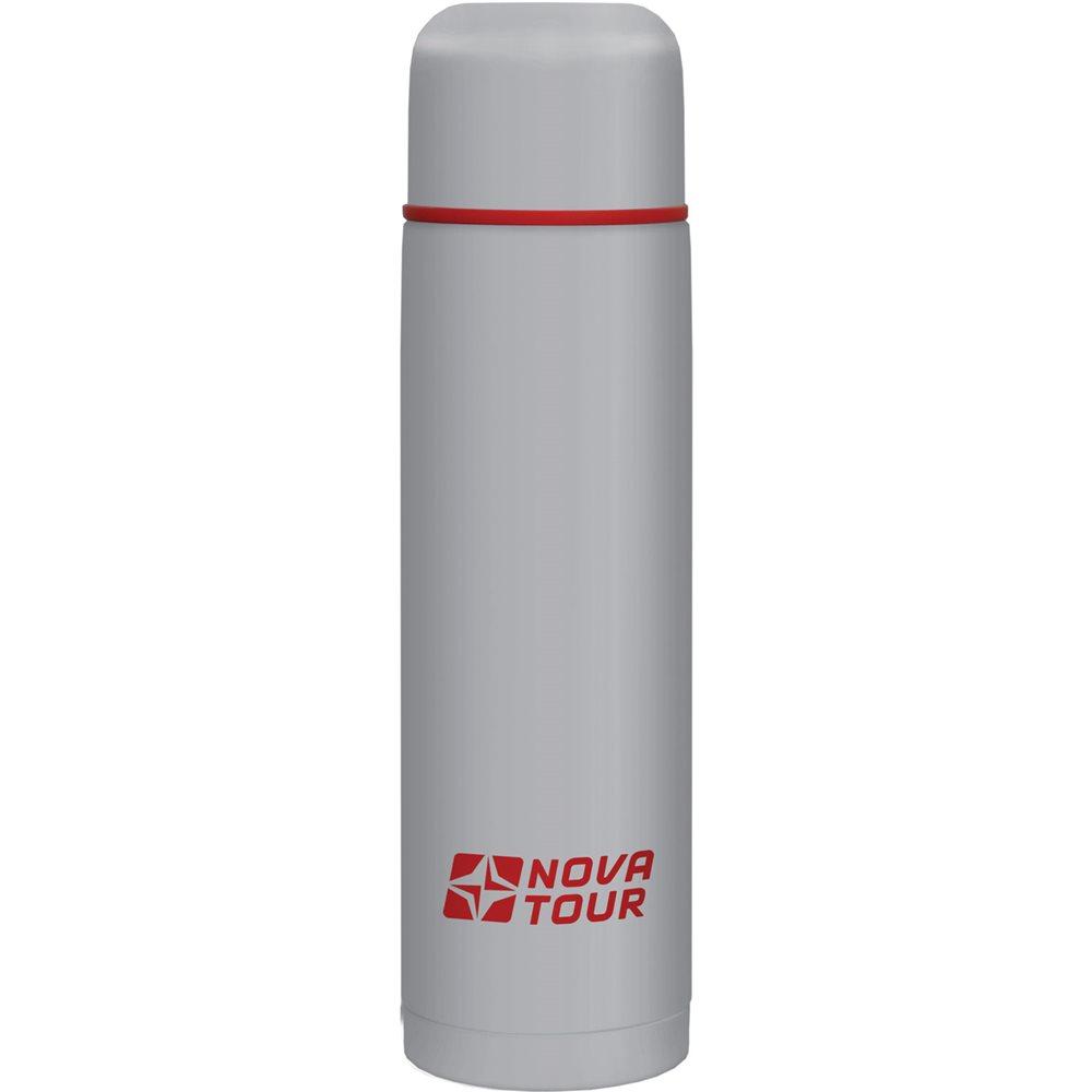 Термос Nova Tour Титаниум, цвет: серый, красный, 0,75 л95918-055-00Термос, ёмкостью 0,75 л, выполненный из пищевой нержавеющей стали, с поворотным клапаном (Достаточно повернуть пробку на пол-оборота чтобы налить содержимое из термоса), который дает возможность при наливании не открывать термос целиком для меньшего охлаждения содержимого. Не большой диаметр корпуса делает термос удобным для обхвата и открытия крышки даже детской рукой.