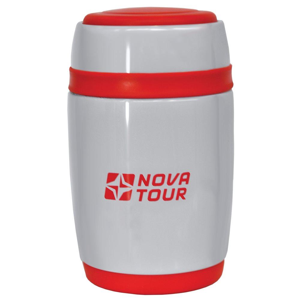 Термос Nova Tour Ланч, цвет: серый, красный, 0,48 л95914-055-00Компактный термос, ёмкостью 0,48л, выполненный из пищевой нержавеющей стали, с поворотным клапаном (Достаточно повернуть пробку на пол-оборота чтобы налить содержимое из термоса), который дает возможность при наливании не открывать термос целиком для меньшего охлаждения содержимого. Широкое горло дает возможность использовать термос для первых и вторых блюд.