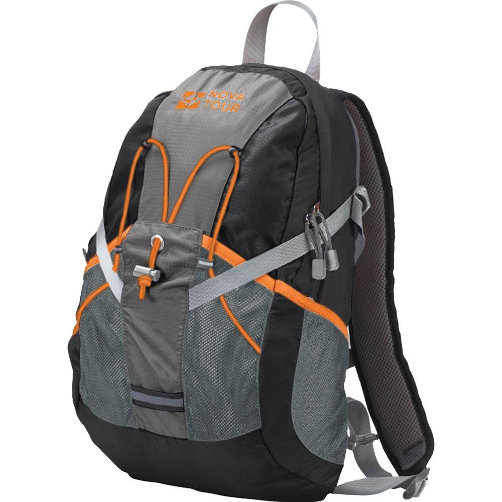 Рюкзак городской Nova Tour Вижн, цвет: черный, серый, 20 л13402-966-00Практичный рюкзак для города и спорта Полужесткие вставки в спине рюкзака, крепление для шлема, отделение для гидратора, боковые карманы из сетки – специально для подвижных людей.