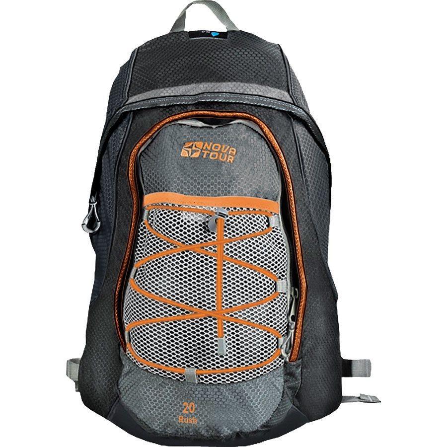 Рюкзак городской Nova Tour Раш, цвет: серый, черный, 20 л13017-961-00Городской рюкзак Раш 20