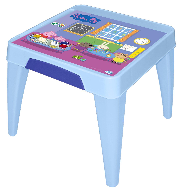 Стол детский Little Angel Свинка Пеппа. Я расту, цвет: голубойLA4502РРГЛМебель «Я расту» – это сбывшаяся мечта! Функциональная, яркая, безопасная и очень привлекательная мебель эксклюзивного дизайна. Уникальный декор мебели включает обучающие элементы - с ними малыш легко выучит английский алфавит, цифры а также научится определять время. Преимущества: эксклюзивные декоры с любимыми героями; закругленные углы для безопасности малыша; противоскользящие накладки для безопасного использования на любой поверхности; особо прочная конструкция ножек для надежной и безопасной эксплуатации; выдерживает статическую нагрузку до 100 кг. для стола и до 180 кг. для стула и табурета.