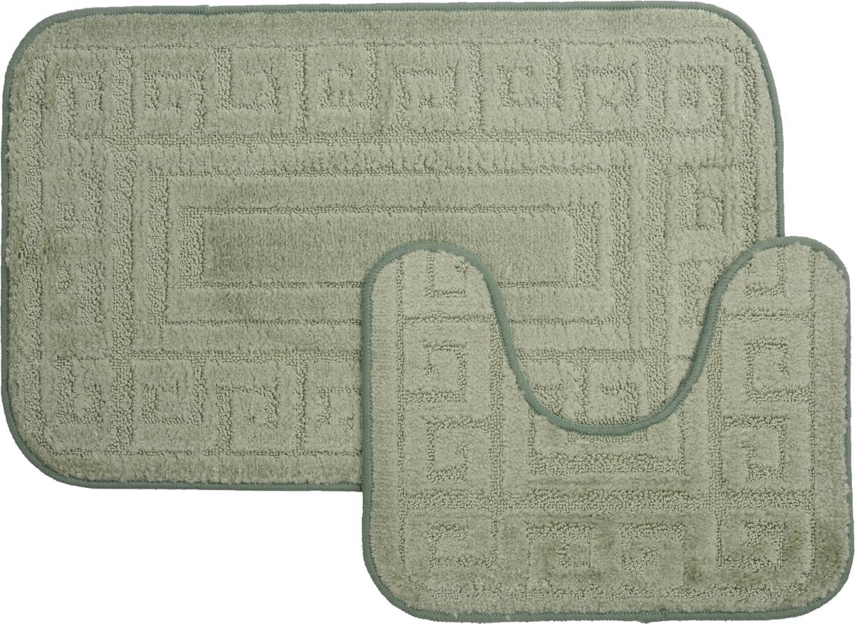 Набор ковриков для ванной MAC Carpet Рома. Версаче, цвет: светло-зеленый, 50 х 80 см, 50 х 40 см, 2 шт21860Набор MAC Carpet Рома. Версаче, выполненный из полипропилена, состоит из двух ковриков для ванной комнаты, один из которых имеет вырез под унитаз. Противоскользящее основание изготовлено из термопластичной резины. Коврики мягкие и приятные на ощупь, отлично впитывают влагу и быстро сохнут. Высокая износостойкость ковриков и стойкость цвета позволит вам наслаждаться покупкой долгие годы. Можно стирать вручную или в стиральной машине на деликатном режиме при температуре 30°С.