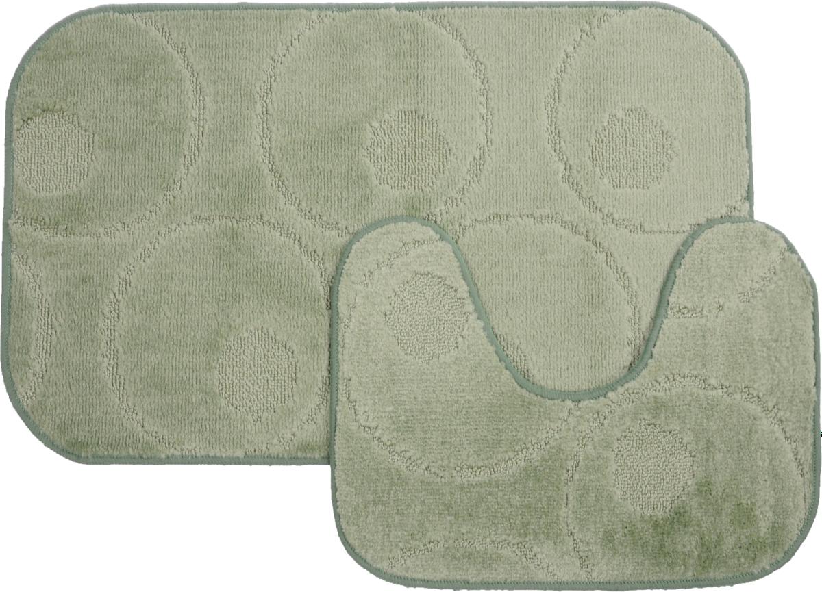 Набор ковриков для ванной MAC Carpet Рома. Круги, цвет: светло-зеленый, 50 х 80 см, 50 х 40 см, 2 шт106-029Набор MAC Carpet Рома. Круги, выполненный из полипропилена, состоит из двух ковриков для ванной комнаты, один из которых имеет вырез под унитаз. Противоскользящее основание изготовлено из термопластичной резины. Коврики мягкие и приятные на ощупь, отлично впитывают влагу и быстро сохнут. Высокая износостойкость ковриков и стойкость цвета позволит вам наслаждаться покупкой долгие годы. Можно стирать вручную или в стиральной машине на деликатном режиме при температуре 30°С.