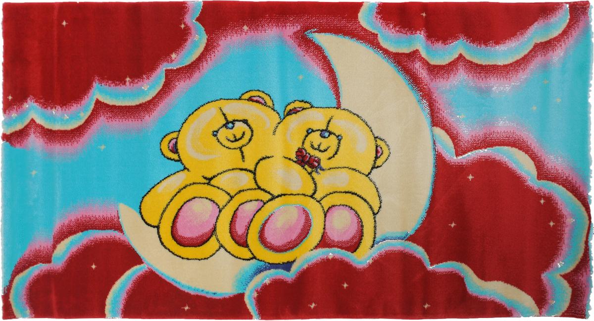 Ковер детский Kamalak Tekstil Мишки, прямоугольный, 80 x 150 смУКД-2023Детский ковер Kamalak Tekstil Мишки изготовлен из высококачественного полипропилена. Полипропилен износостоек, нетоксичен, не впитывает влагу, не провоцирует аллергию. Структура волокна в полипропиленовых коврах гладкая, поэтому грязь не будет въедаться и скапливаться на ворсе. Практичный и износоустойчивый ворс не истирается и не накапливает статическое электричество. Ковер обладает хорошими показателями теплостойкости и шумоизоляции. Оригинальный рисунок позволит гармонично оформить интерьер детской комнаты. За счет невысокого ворса ковер легко чистить. При надлежащем уходе синтетический ковер прослужит долго, не утратив ни яркости узора, ни блеска ворса, ни упругости. Самый простой способ избавить изделие от грязи - пропылесосить его с обеих сторон (лицевой и изнаночной). Влажная уборка с применением шампуней и моющих средств не противопоказана. Хранить рекомендуется в свернутом рулоном виде.