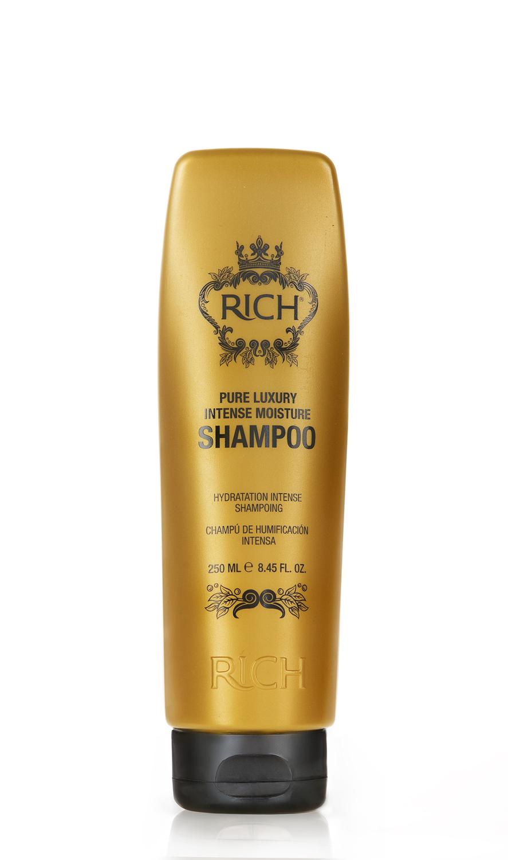 Rich Интенсивный увлажняющий шампунь, 250 мл150500Шампунь для ежедневного применения. Интенсивно увлажняет и питает волосы, придает блеск и помогает улучшить состояние волос • Проникает внутрь волоса и утолщает его изнутри • Накапливается внутри волокна, делает волосы более густыми надолго • Пышные роскошные волосы после 5 применений