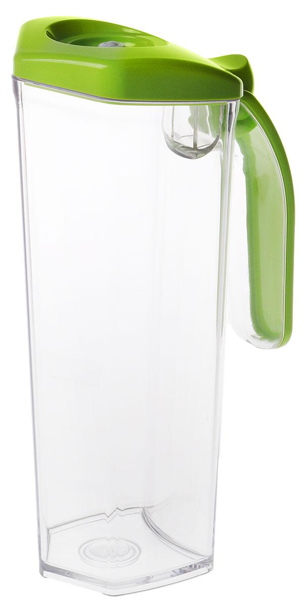 Status JUG 1, Green кувшин вакуумный891624Вакуумный кувшин Status JUG 1 подходит для хранения соков, молока и других напитков, что продлевает их срок годности, сохраняет аромат и вкус.Форма кувшина разработана для удобного хранения на полке в дверце холодильника. Изготовлен из прочного хрустально-прозрачного аморфного пластика Eastman Tritan.Пригоден для замораживания (до -21 °C), мытья в посудомоечной машине, разогрева в СВЧ (без крышки).Для создания вакуума необходим вакуумный насос.