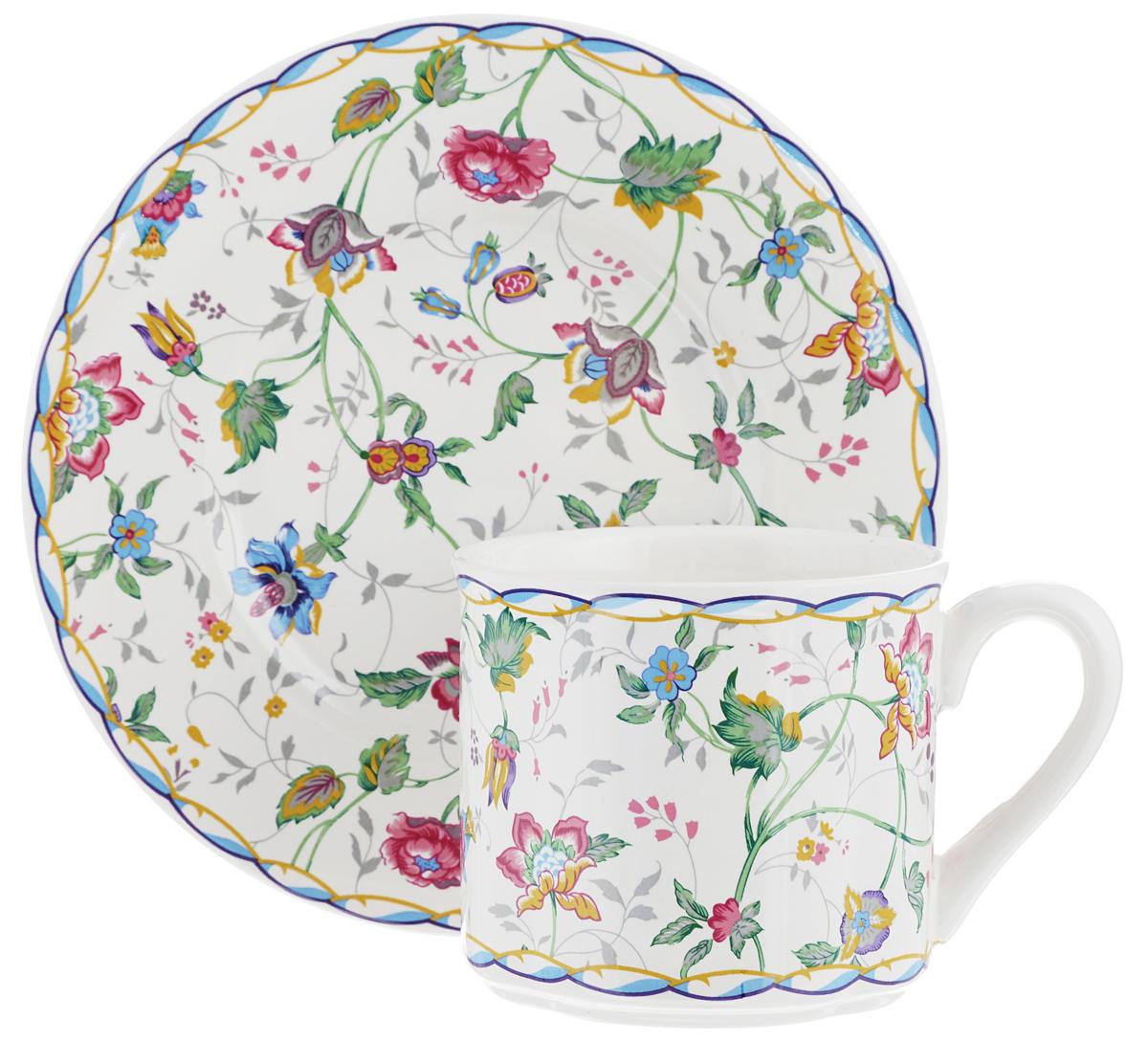 Чайная пара Gotoff, 2 предметаLUNA09-1102/1Чайная пара Gotoff состоит из чашки и блюдца, изготовленных из высококачественного фаянса. Оригинальный яркий дизайн, несомненно, придется вам по вкусу. Чайная пара Gotoff украсит ваш кухонный стол, а также станет замечательным подарком к любому празднику. Диаметр чашки (по верхнему краю): 8 см. Высота чашки: 8 см. Объем чашки: 200 мл. Диаметр блюдца: 16,5 см.