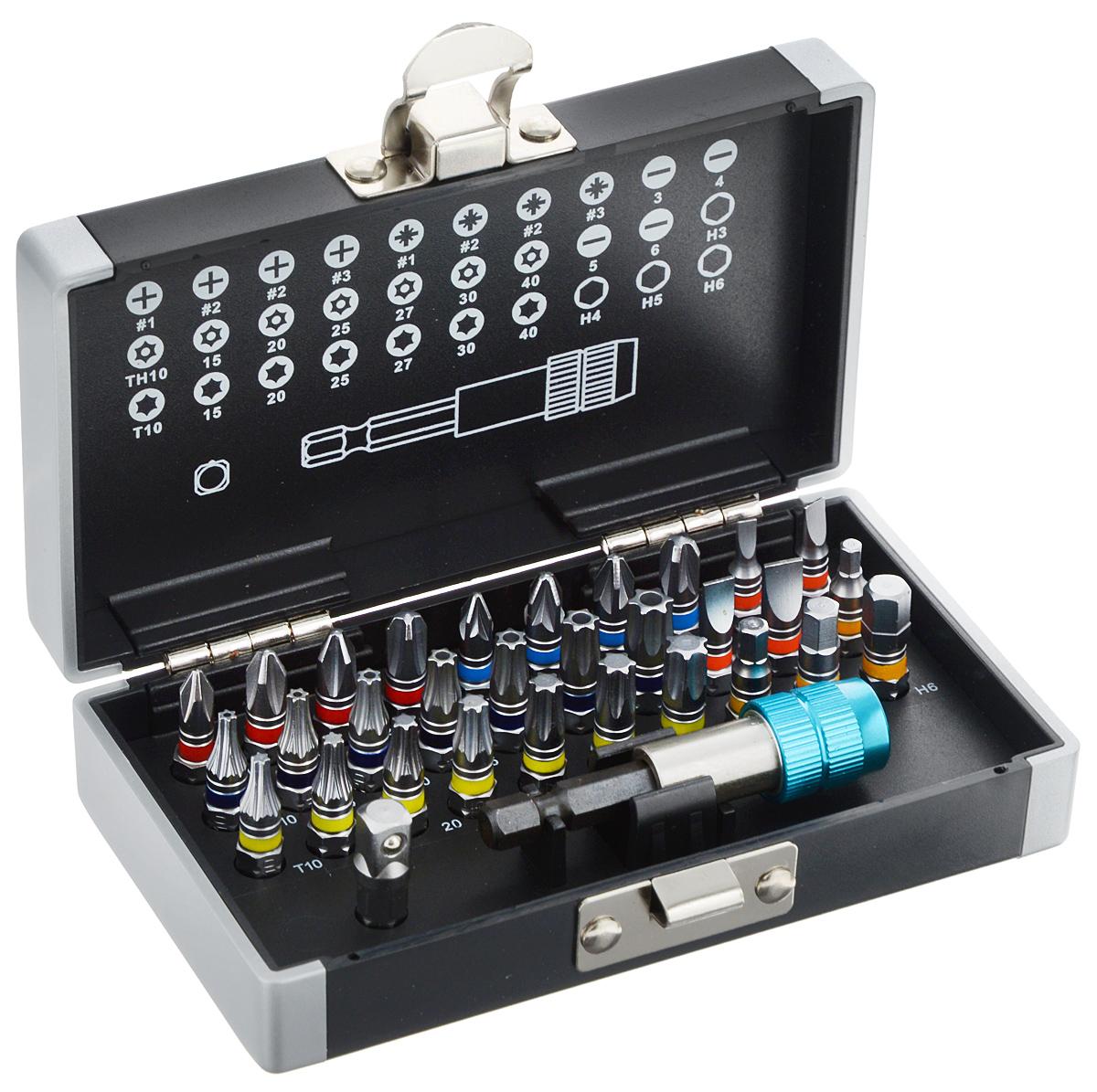 """Набор бит Gross """"1/4"""", с пластиковым кейсом, с магнитным адаптером, 32 шт 11363"""